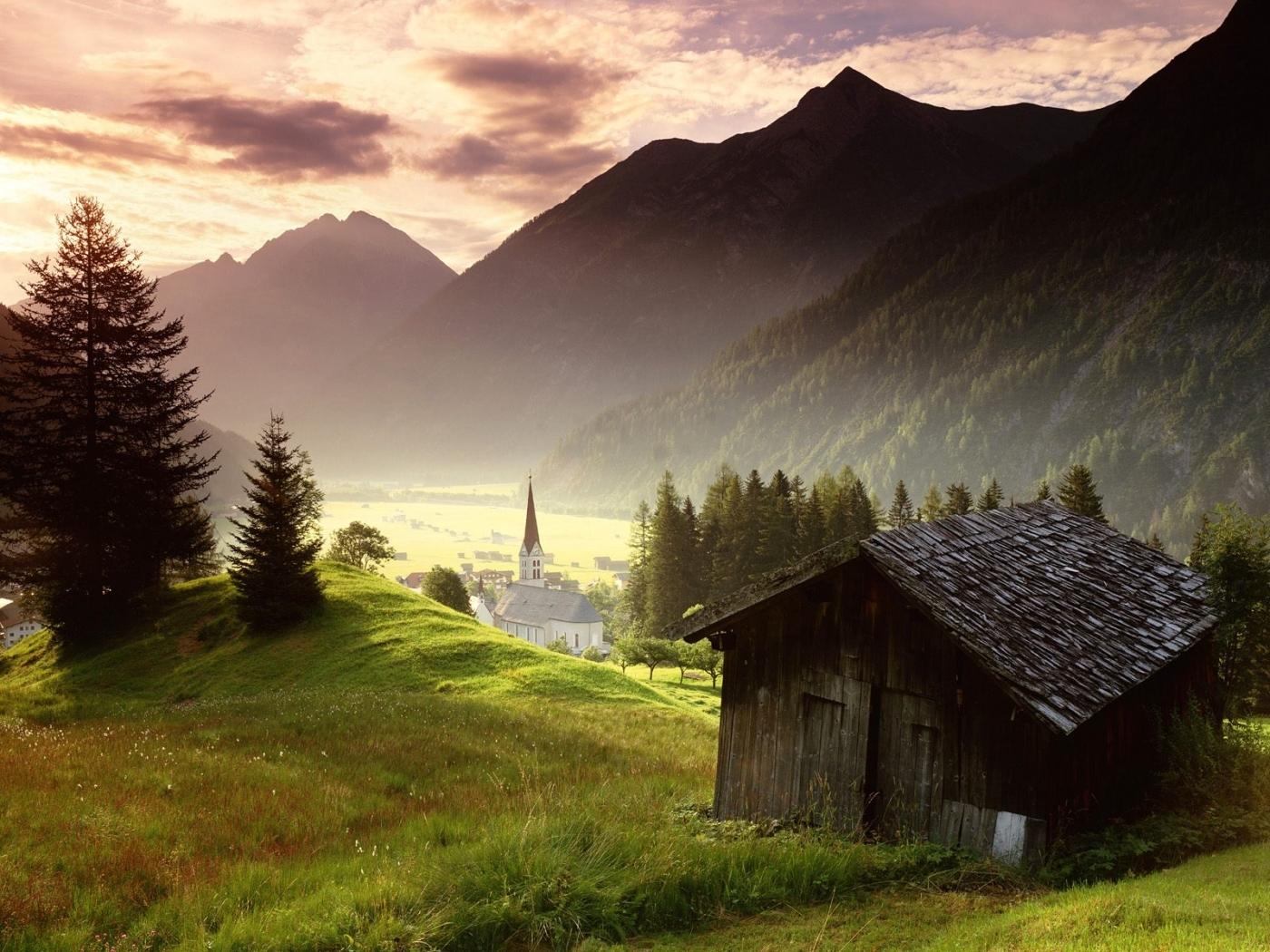 48111 télécharger le fond d'écran Paysage, Nature, Maisons, Montagnes - économiseurs d'écran et images gratuitement