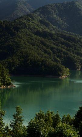 100499 télécharger le fond d'écran Nature, Lac, Arbres, Italie, Montagnes, Paysage - économiseurs d'écran et images gratuitement
