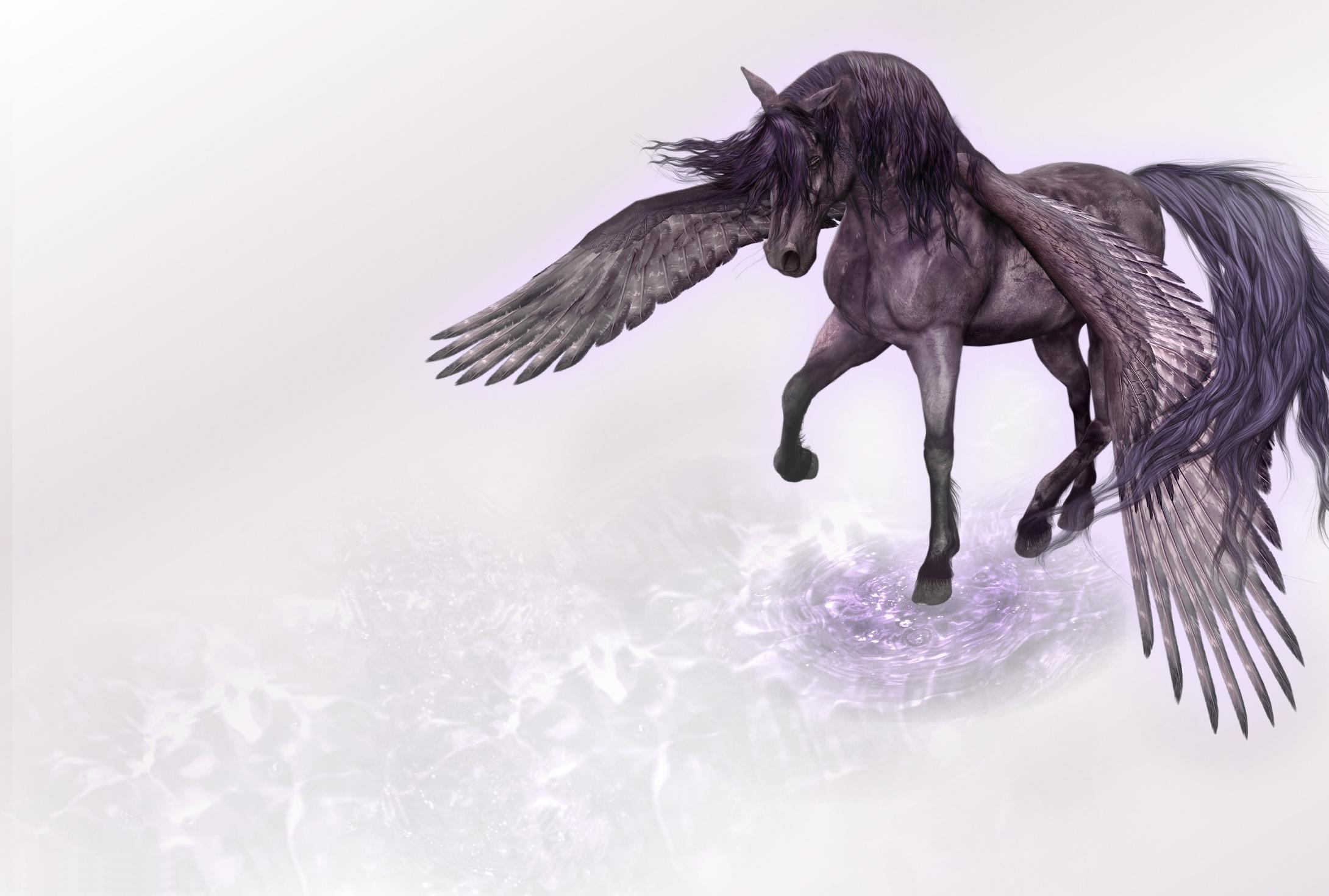 118780 скачать обои Вода, Фэнтези, Крылья, Конь, Пегас - заставки и картинки бесплатно