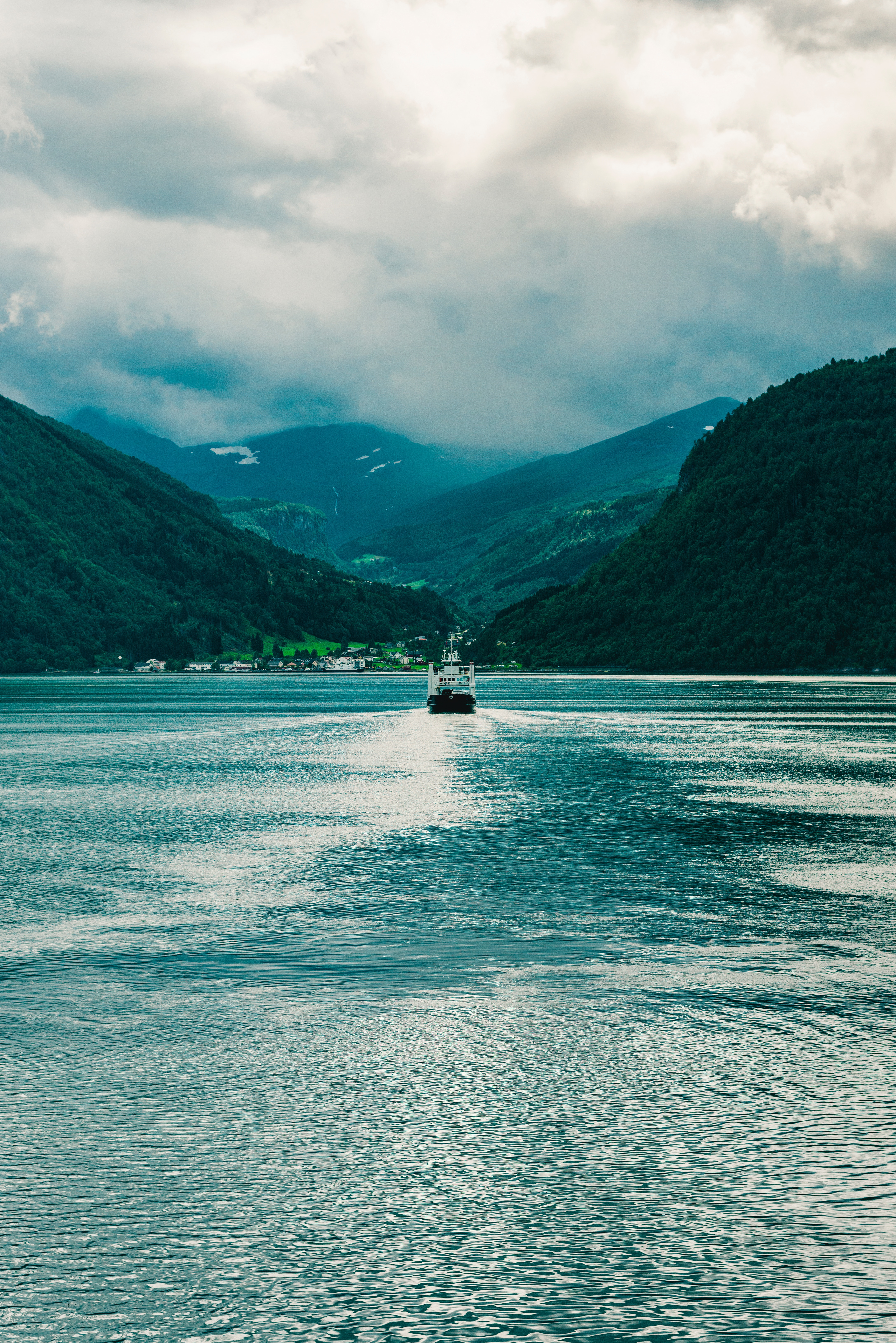 67155 Screensavers and Wallpapers Boat for phone. Download Nature, Mountains, Clouds, Fog, Boat, Ship pictures for free