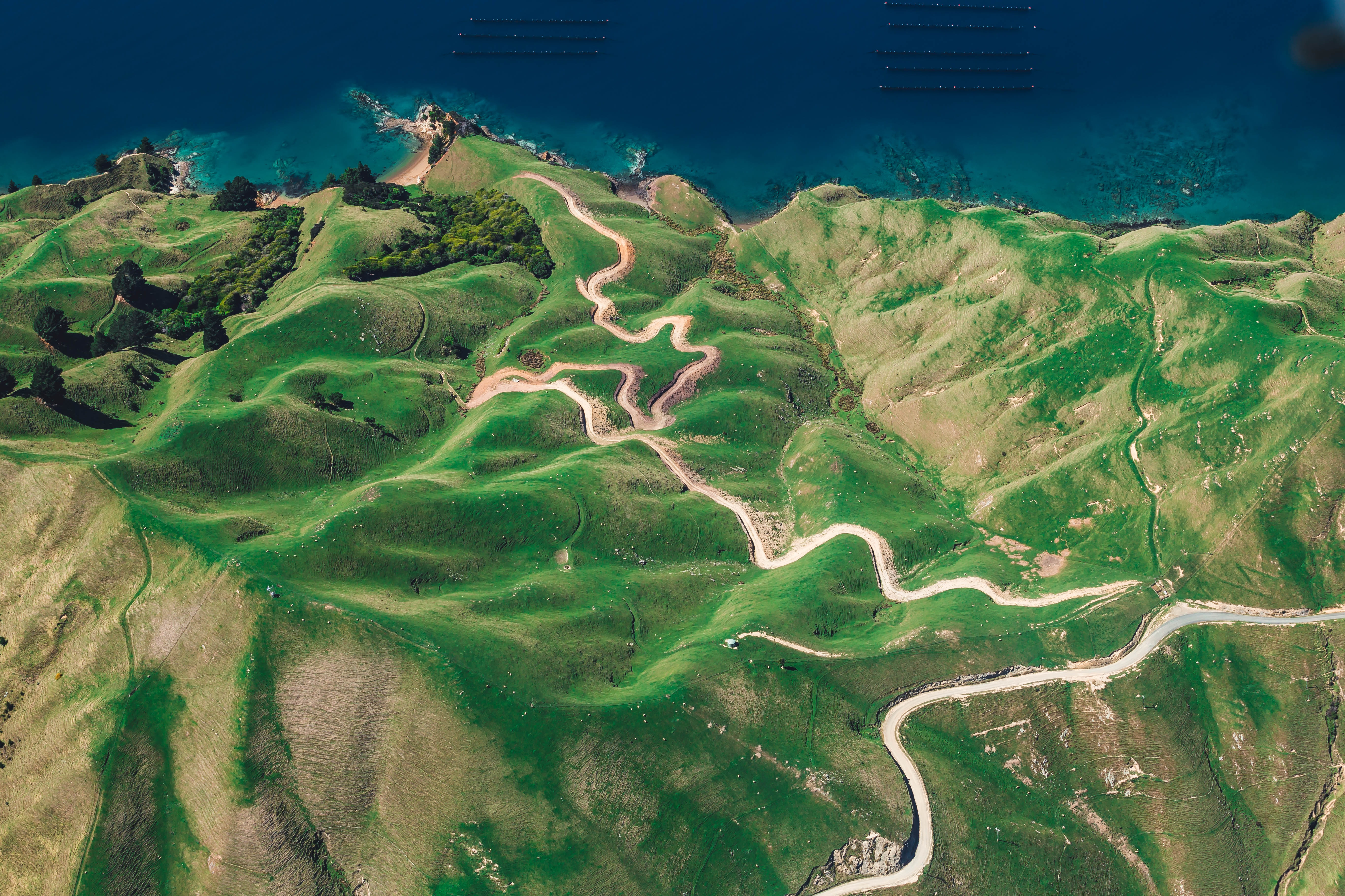 106187 Screensavers and Wallpapers New Zealand for phone. Download Nature, View From Above, New Zealand, Ocean, Island, Durville pictures for free
