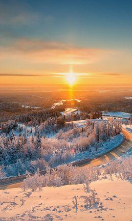 106445 скачать обои Природа, Белогорье, Урал, Зима, Свет, Пейзаж - заставки и картинки бесплатно
