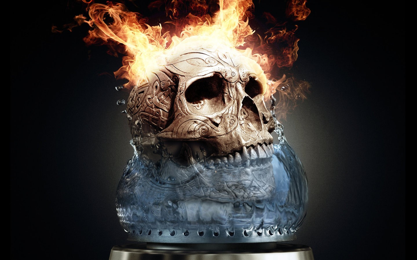 22576 download wallpaper Art, Fire, Death, Objects, Skeletons screensavers and pictures for free