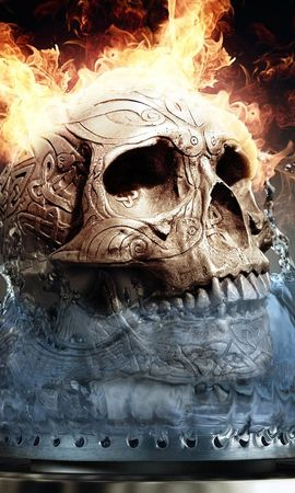 22576 Screensavers and Wallpapers Objects for phone. Download Art, Fire, Death, Objects, Skeletons pictures for free