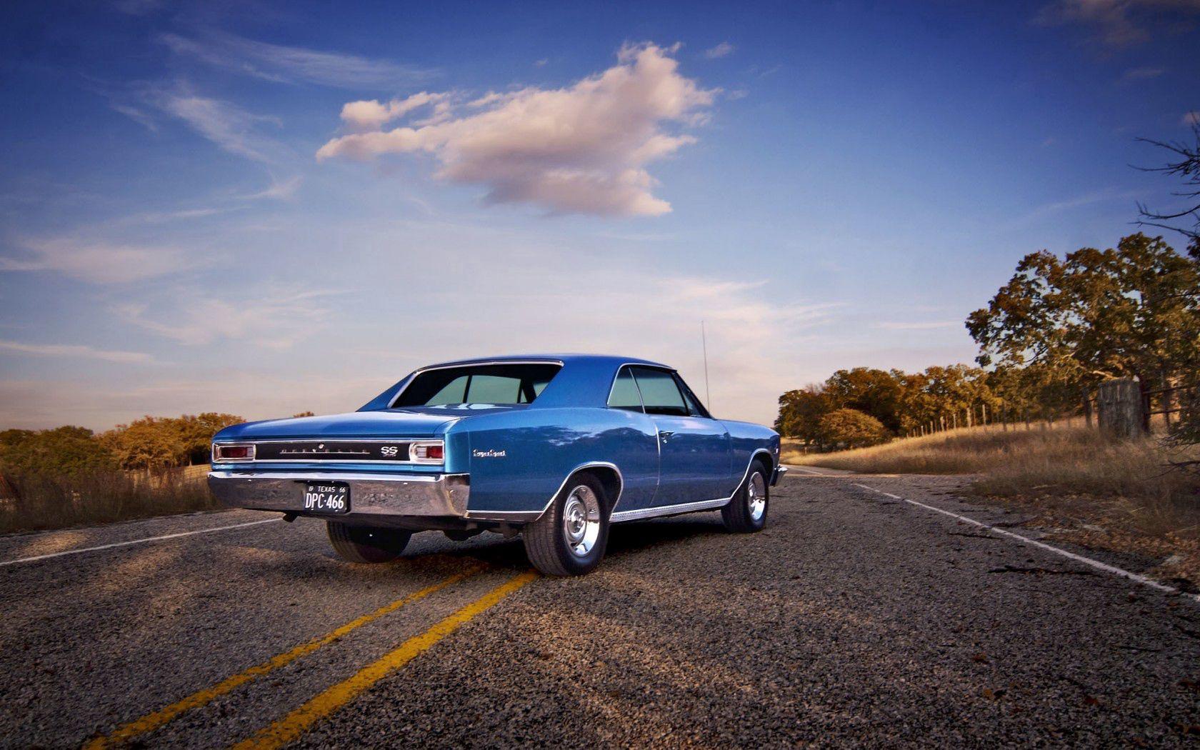 96409 скачать обои Тачки (Cars), Шевроле (Chevrolet), Chevelle, 1966, Вид Сзади - заставки и картинки бесплатно