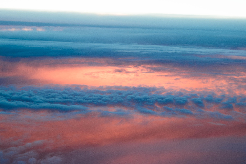 106540 скачать обои Облака, Природа, Закат, Небо, Восход, Солнечный Свет, Пористый - заставки и картинки бесплатно