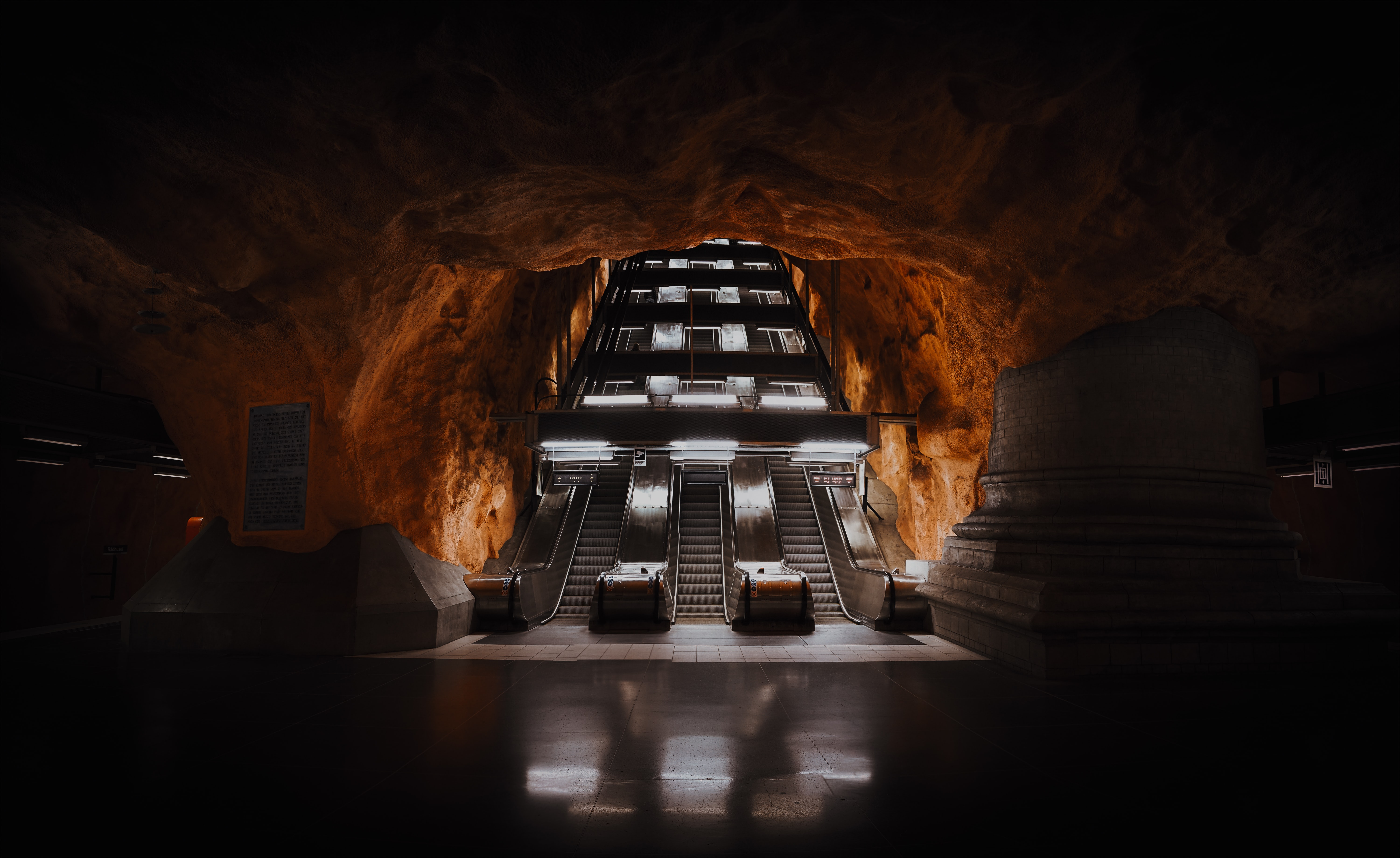 148440 Screensavers and Wallpapers Metro for phone. Download Dark, Miscellanea, Miscellaneous, Tunnel, Metro, Subway, Escalator pictures for free