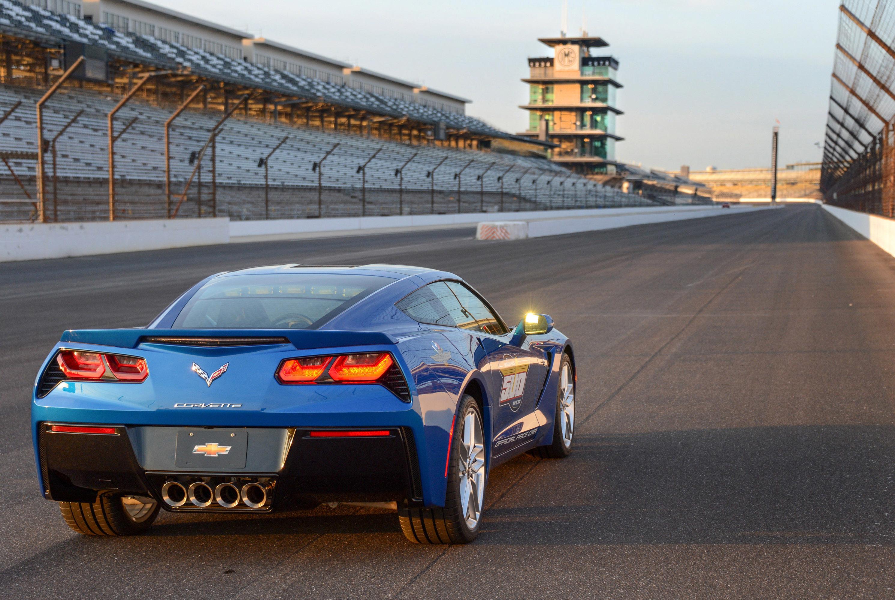 122864 скачать обои Тачки (Cars), Шевроле (Chevrolet), Corvette, Stingray, C7, Indy 500, Pace Car - заставки и картинки бесплатно
