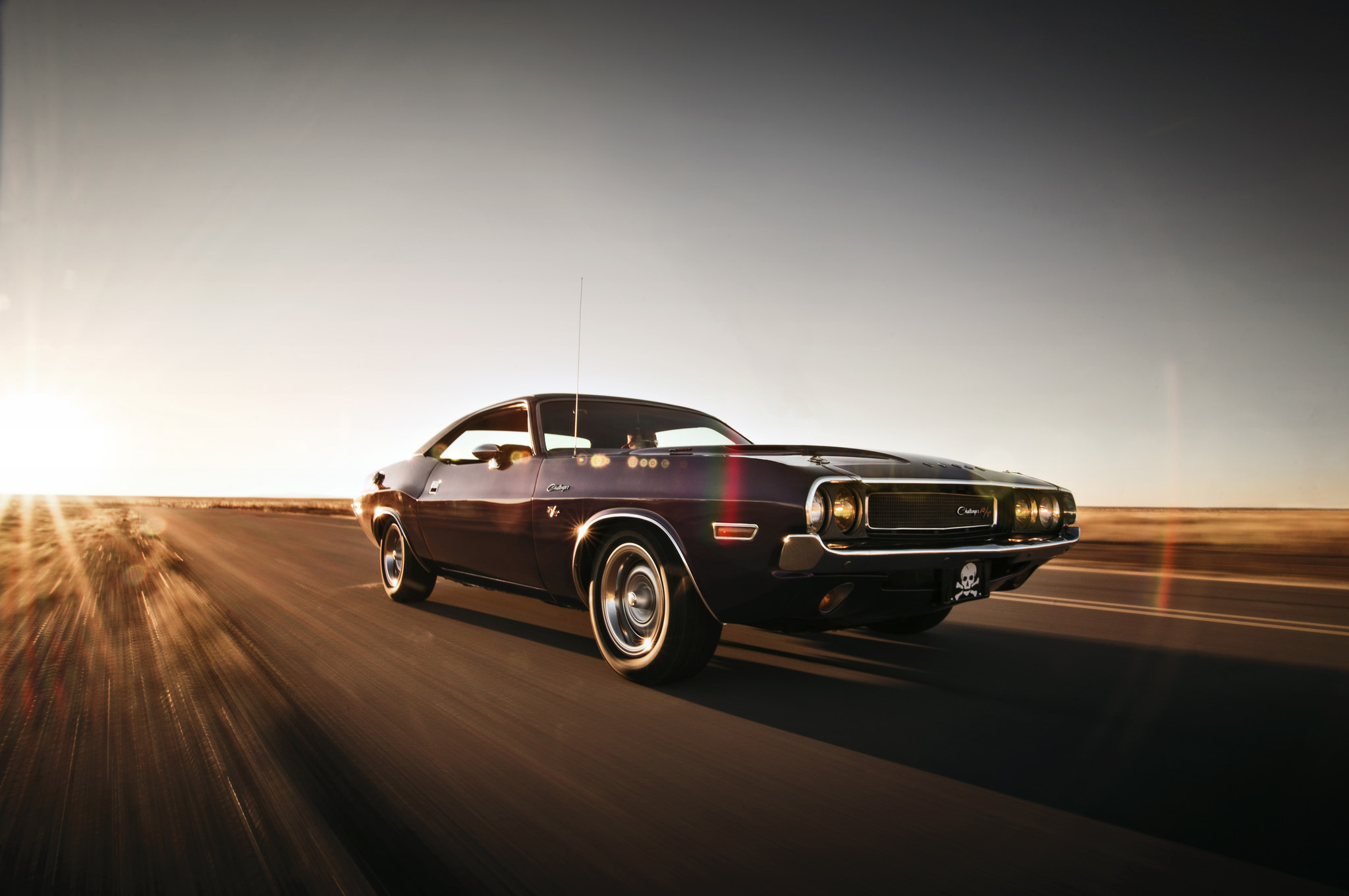 78898 download wallpaper Cars, Traffic, Movement, Speed, Dodge, Challenger screensavers and pictures for free
