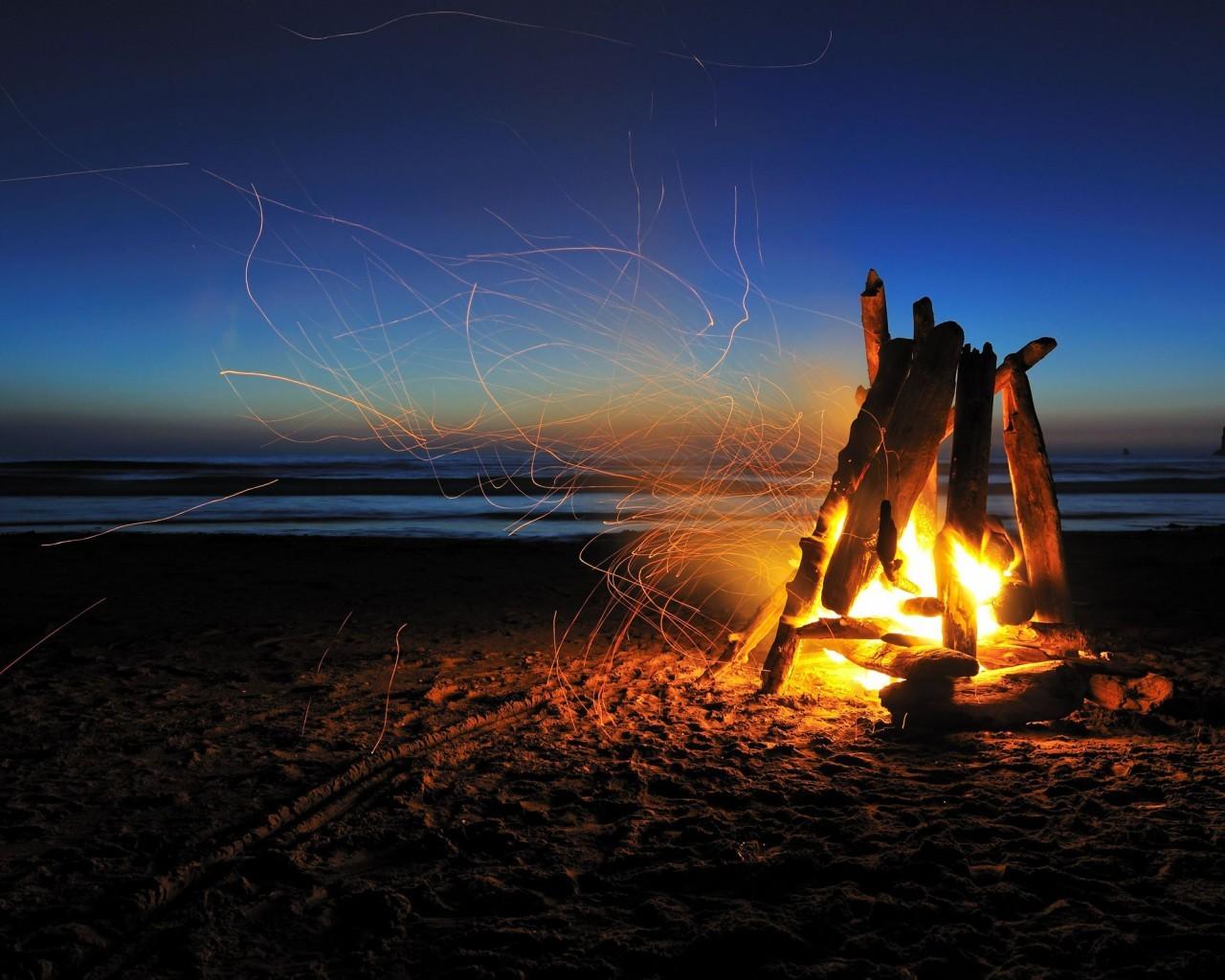 47639 免費下載壁紙 景观, 火, 海滩 屏保和圖片