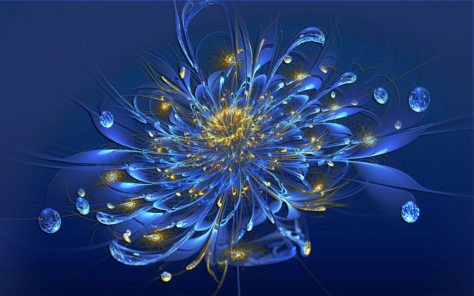 130771 скачать обои Цветок, Абстракция, Дым, Линии, Синий - заставки и картинки бесплатно