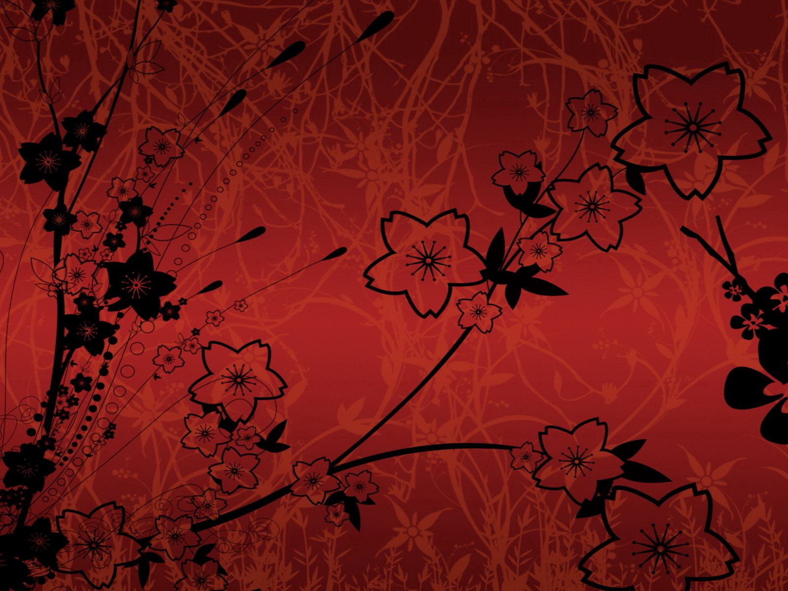 154840 download wallpaper Abstract, Background, Dark, Lines, Flowers screensavers and pictures for free