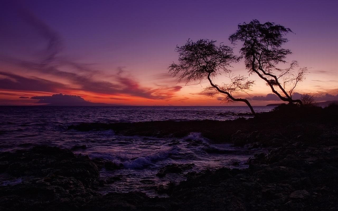 2861 скачать обои Пейзаж, Закат, Море - заставки и картинки бесплатно