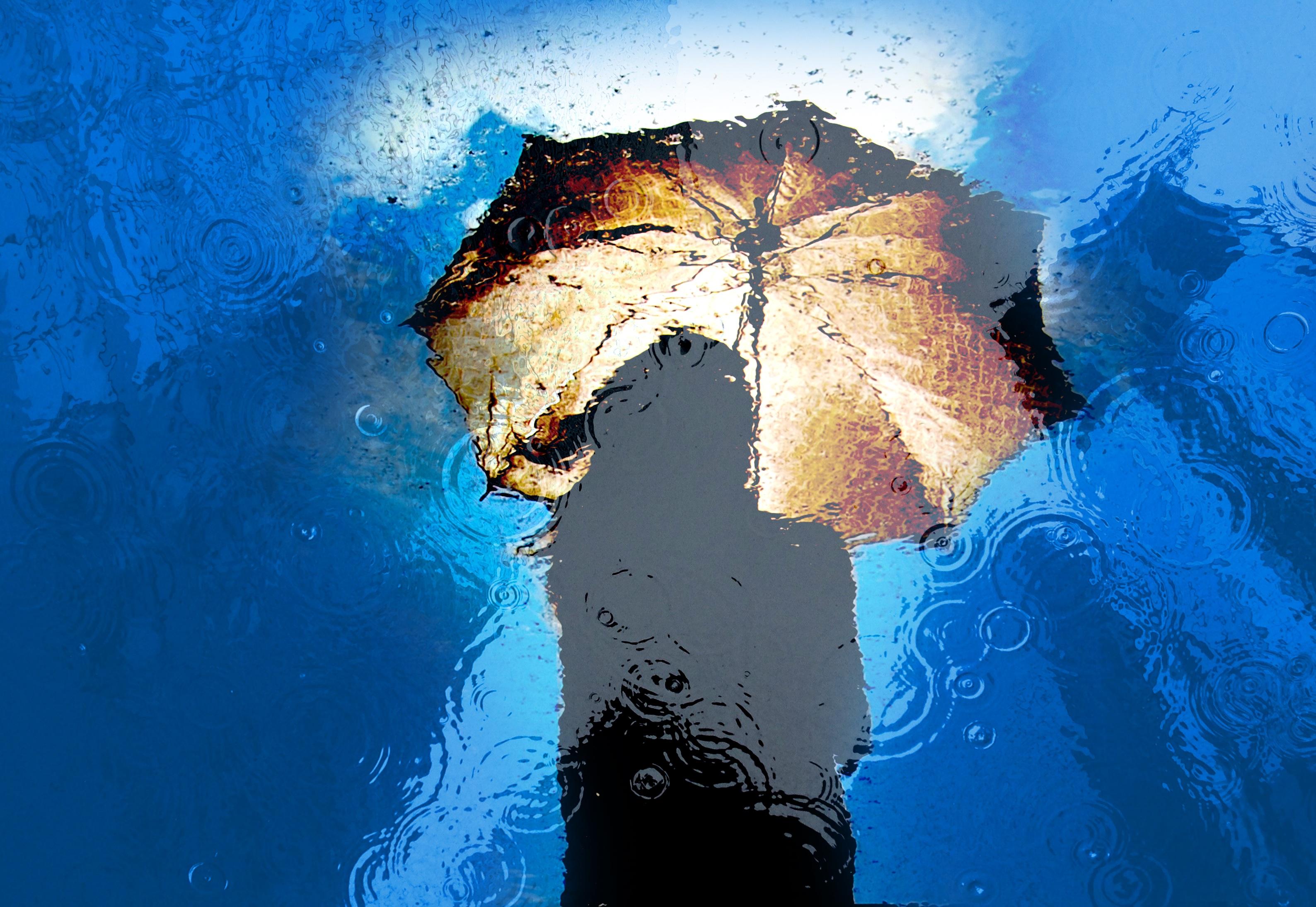 82662壁紙のダウンロードその他, 雑, 傘, 雨, 反射, 水たまり, 水溜り-スクリーンセーバーと写真を無料で
