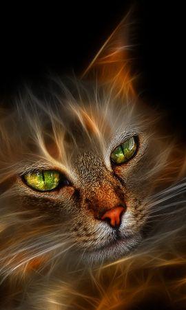 35112 скачать обои Животные, Кошки (Коты, Котики), Арт - заставки и картинки бесплатно
