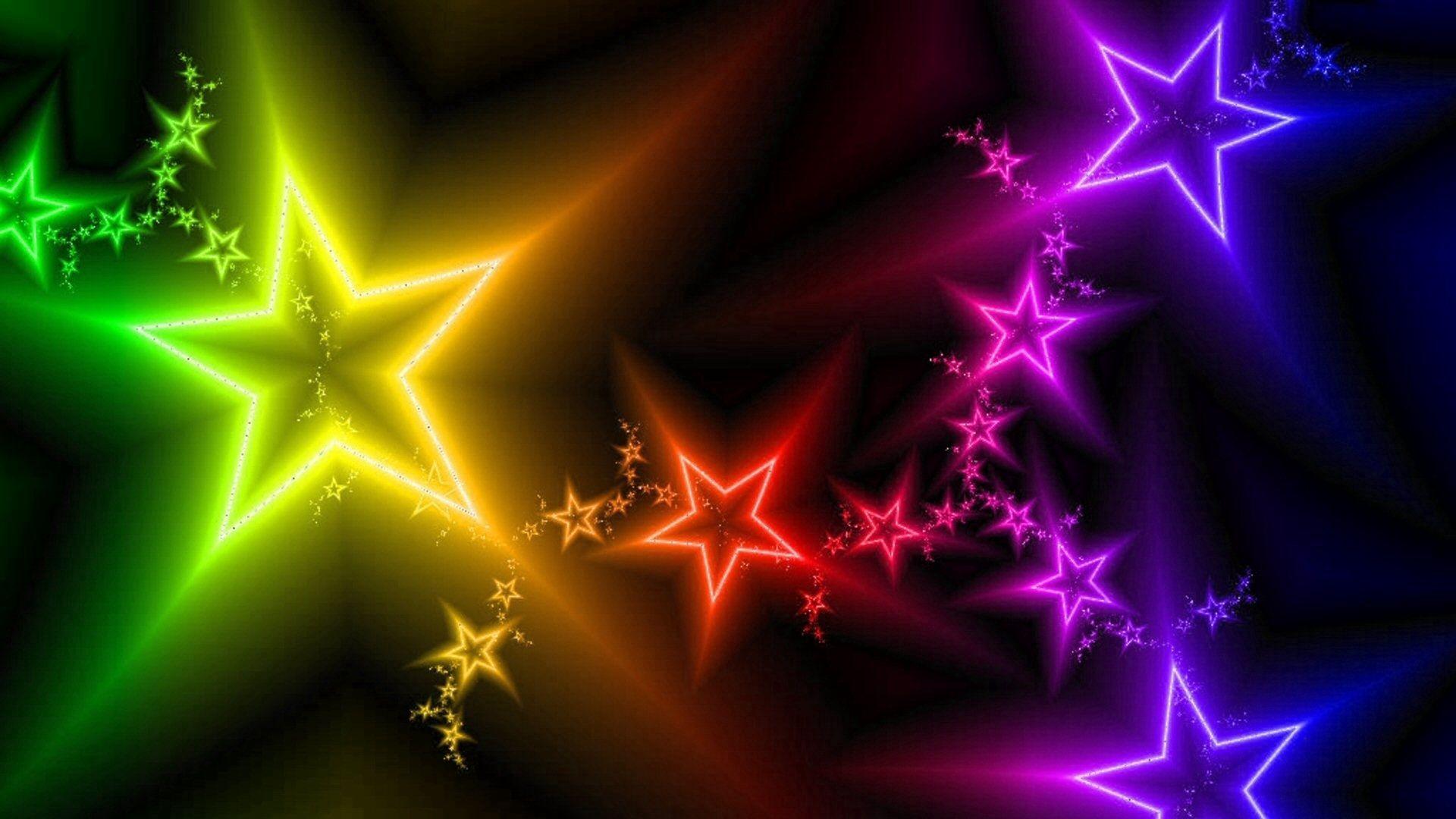 107568 скачать обои Разноцветный, Абстракция, Звезды, Свет - заставки и картинки бесплатно