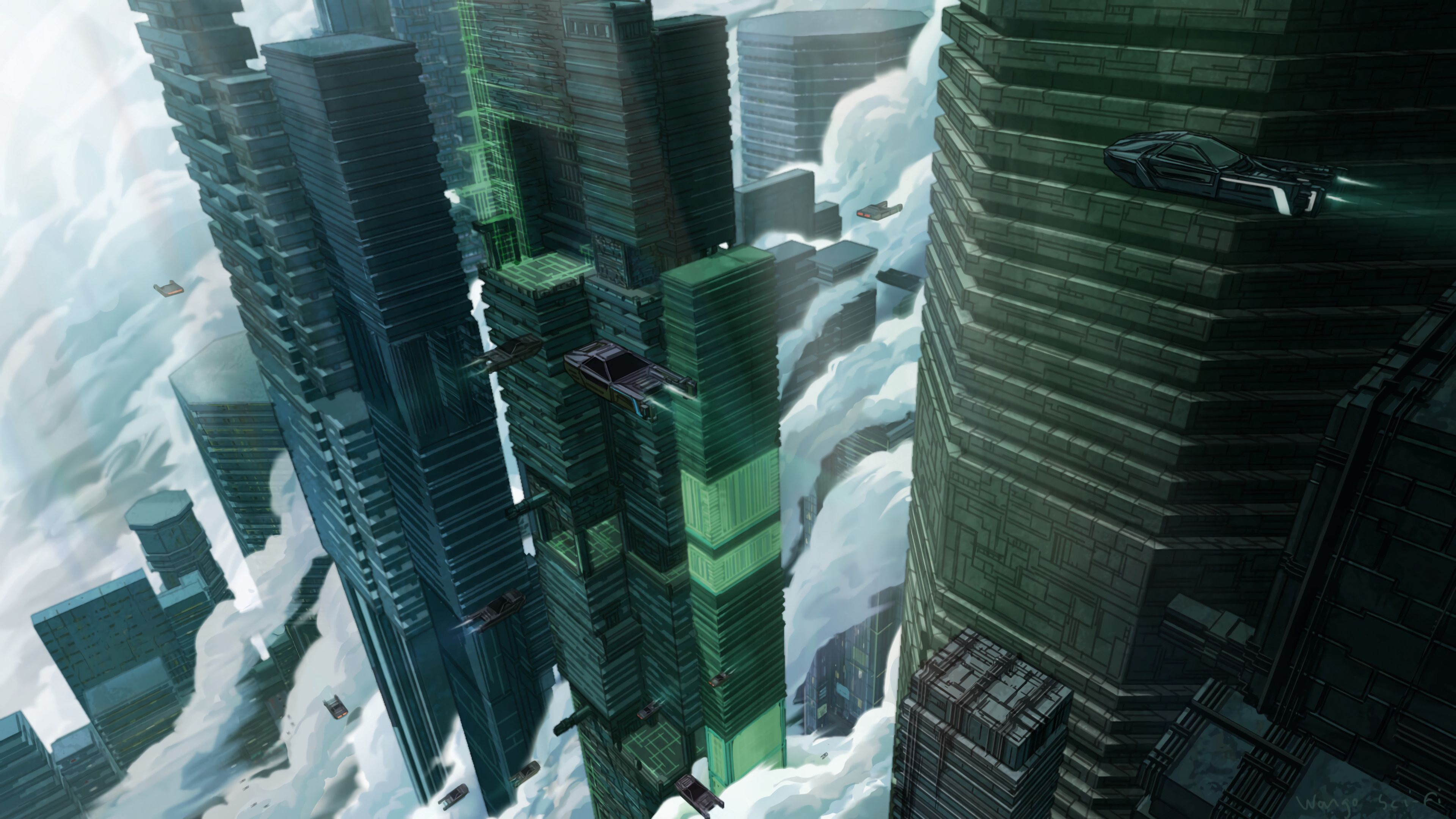 145441 Screensavers and Wallpapers Sci-Fi for phone. Download Sky, Art, Cars, Building, Sci-Fi, Future pictures for free