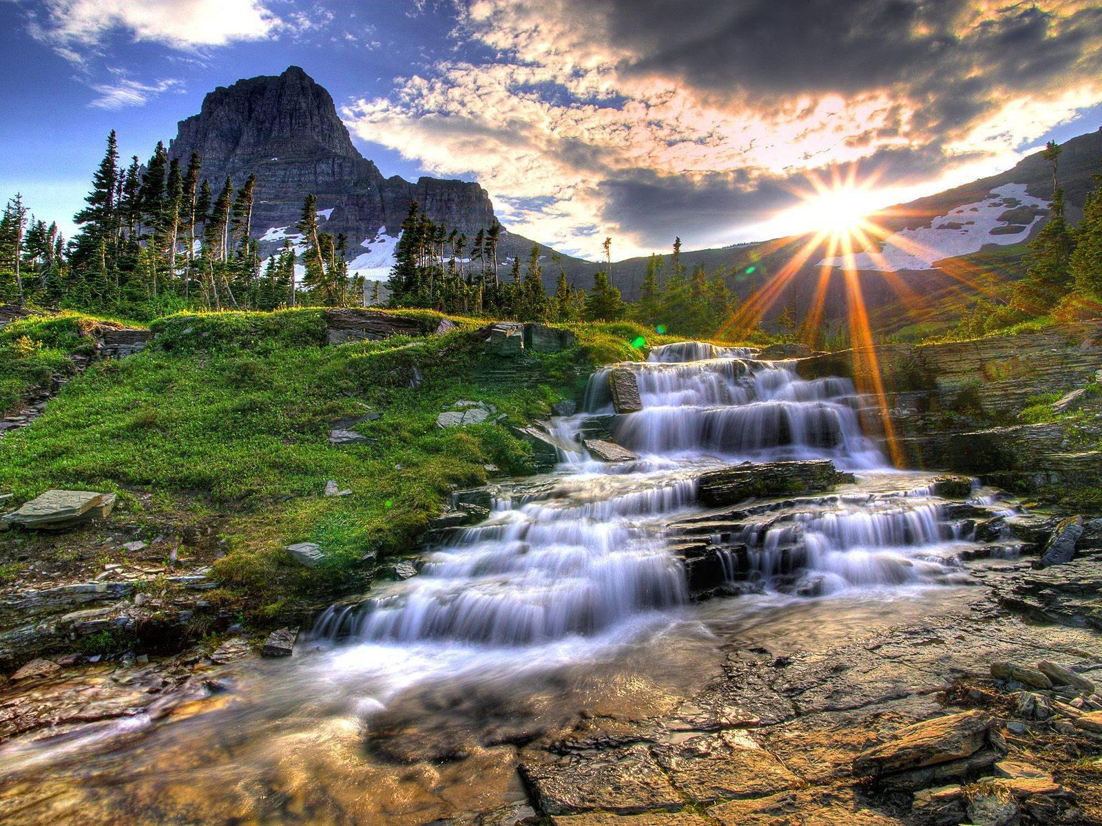 35461 Hintergrundbild herunterladen Wasserfälle, Landschaft, Flüsse - Bildschirmschoner und Bilder kostenlos