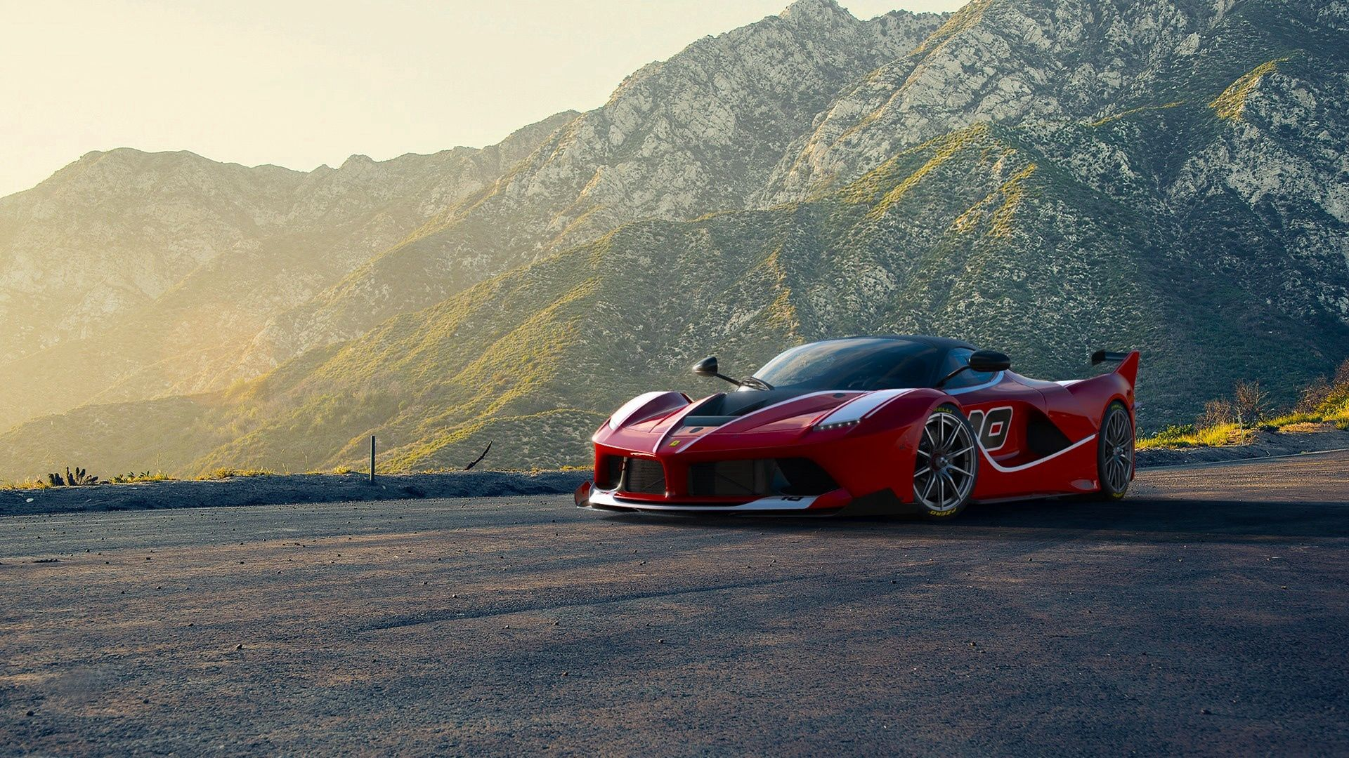 121280 download wallpaper Ferrari, Sports, Supercar, Mountains, Cars, Sports Car screensavers and pictures for free
