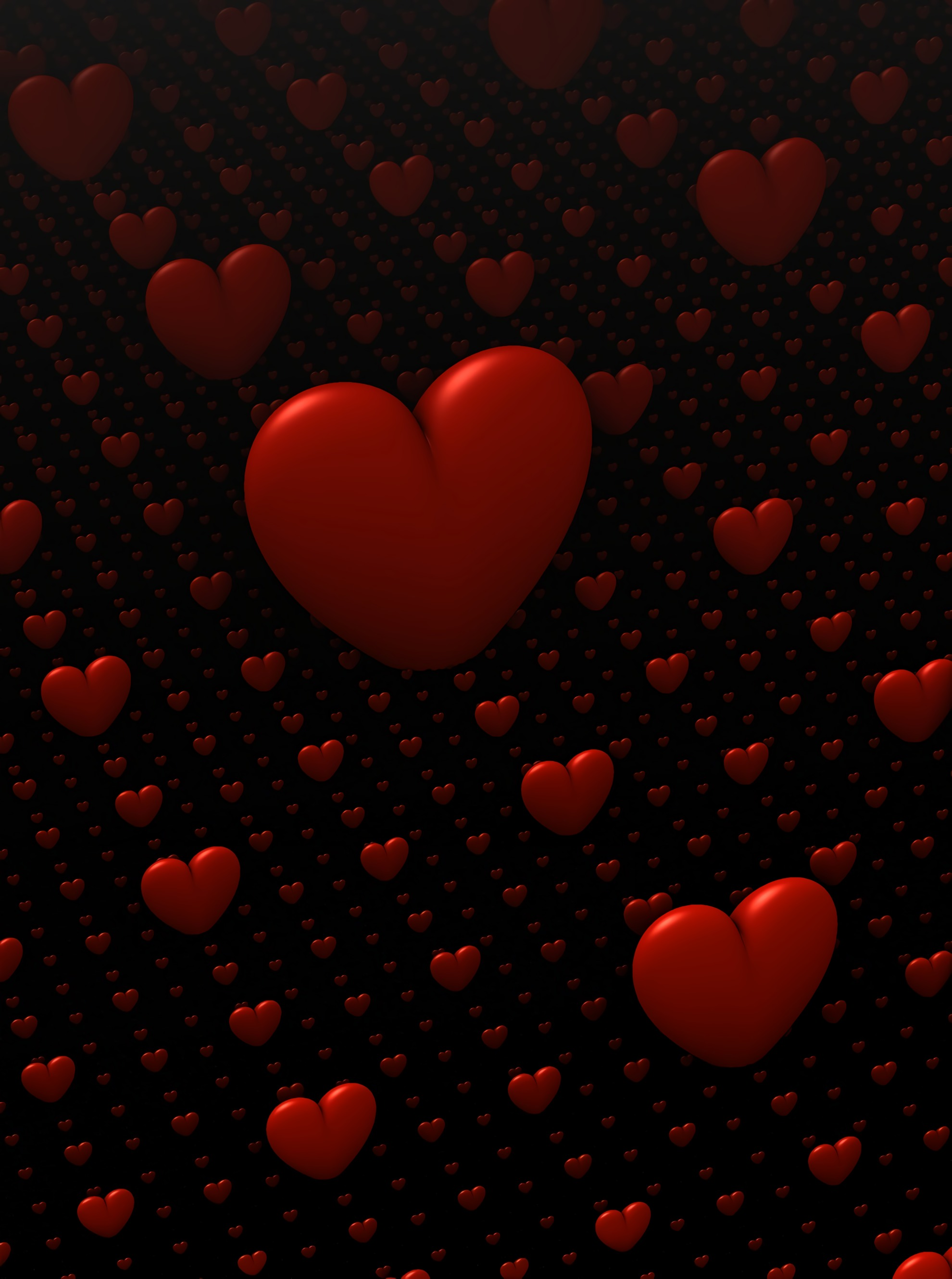 73181 download wallpaper 3D, Love, Hearts screensavers and pictures for free
