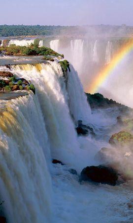 83125 télécharger le fond d'écran Nature, Chutes D'iguaçu, Chutes D'Iguassu, Argentine, Cascade, Arc En Ciel, Végétation - économiseurs d'écran et images gratuitement