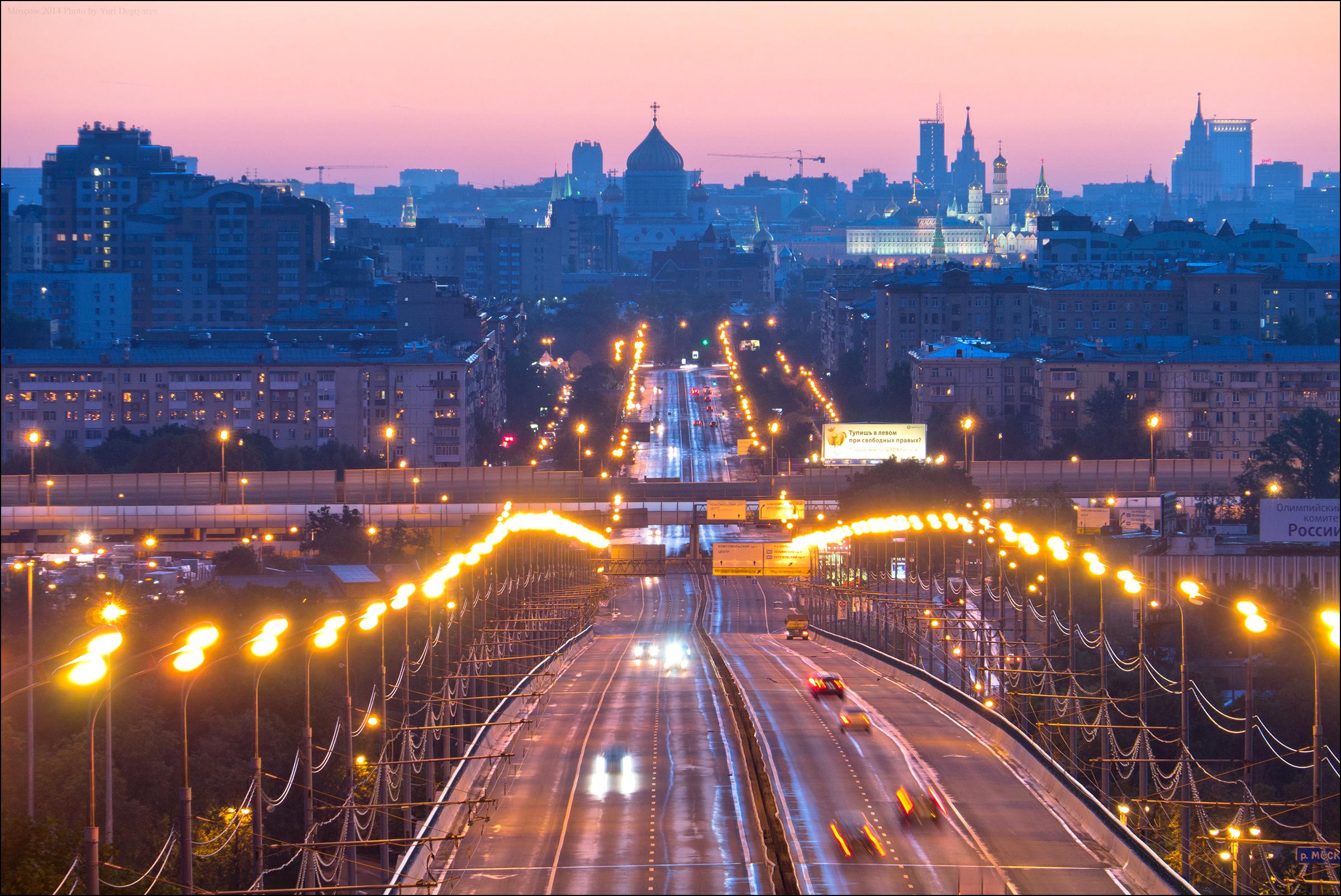 122141 скачать обои Москва, Города, Фонари, Ночной Город, Мост, Россия - заставки и картинки бесплатно