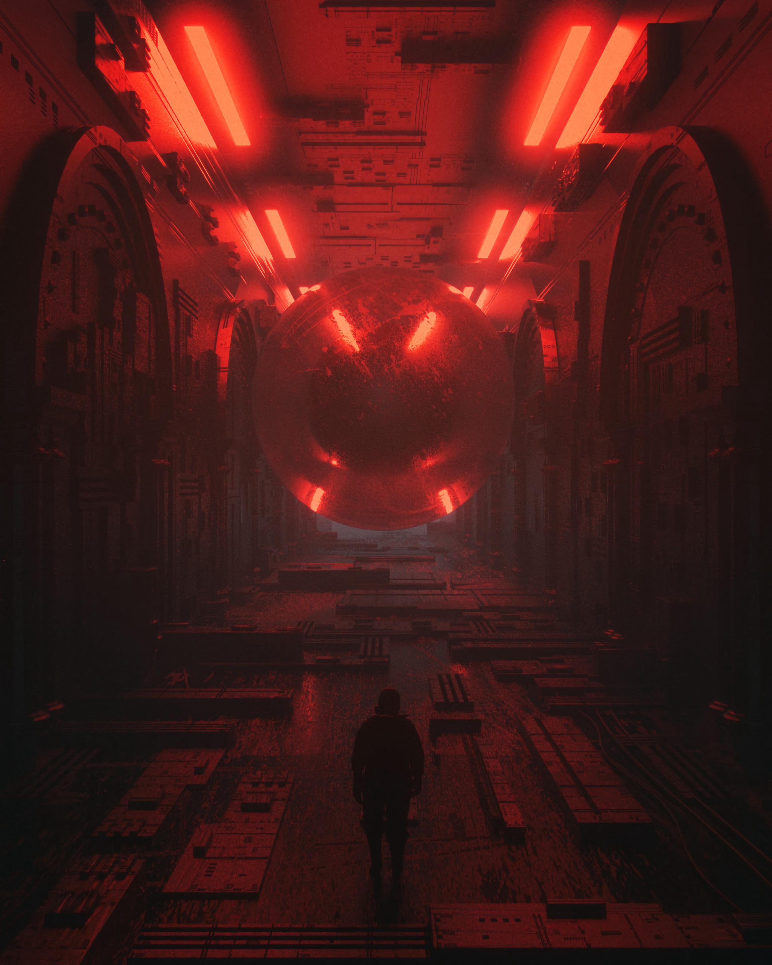 137196 Screensavers and Wallpapers Fiction for phone. Download Cyberpunk, Fantasy, Silhouette, Space, Sci-Fi, Fiction, That's Incredible, Future pictures for free