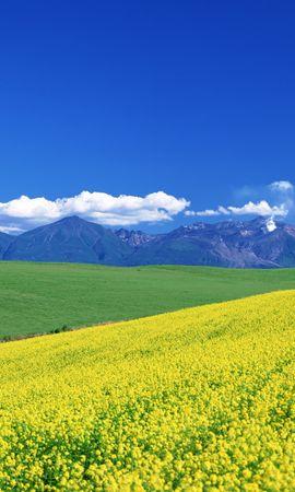 27148 скачать обои Пейзаж, Поля, Небо, Горы - заставки и картинки бесплатно