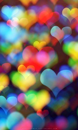 83206 télécharger le fond d'écran Abstrait, Cœurs, Cœur, Multicolore, Hétéroclite, Bokeh, Boquet - économiseurs d'écran et images gratuitement