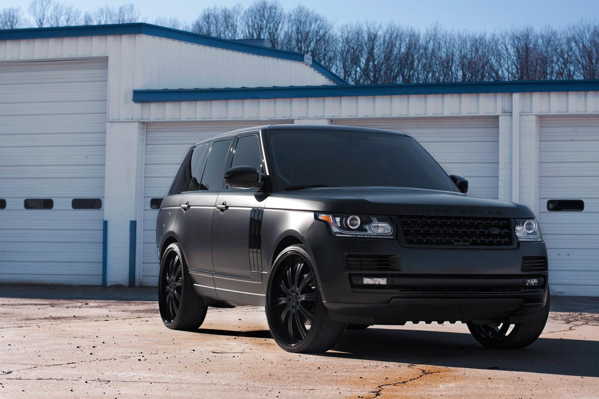 99590 скачать обои Тачки (Cars), Ленд Ровер (Land Rover), Рендж Ровер (Range Rover), Ленд Ровер, Black Matte - заставки и картинки бесплатно
