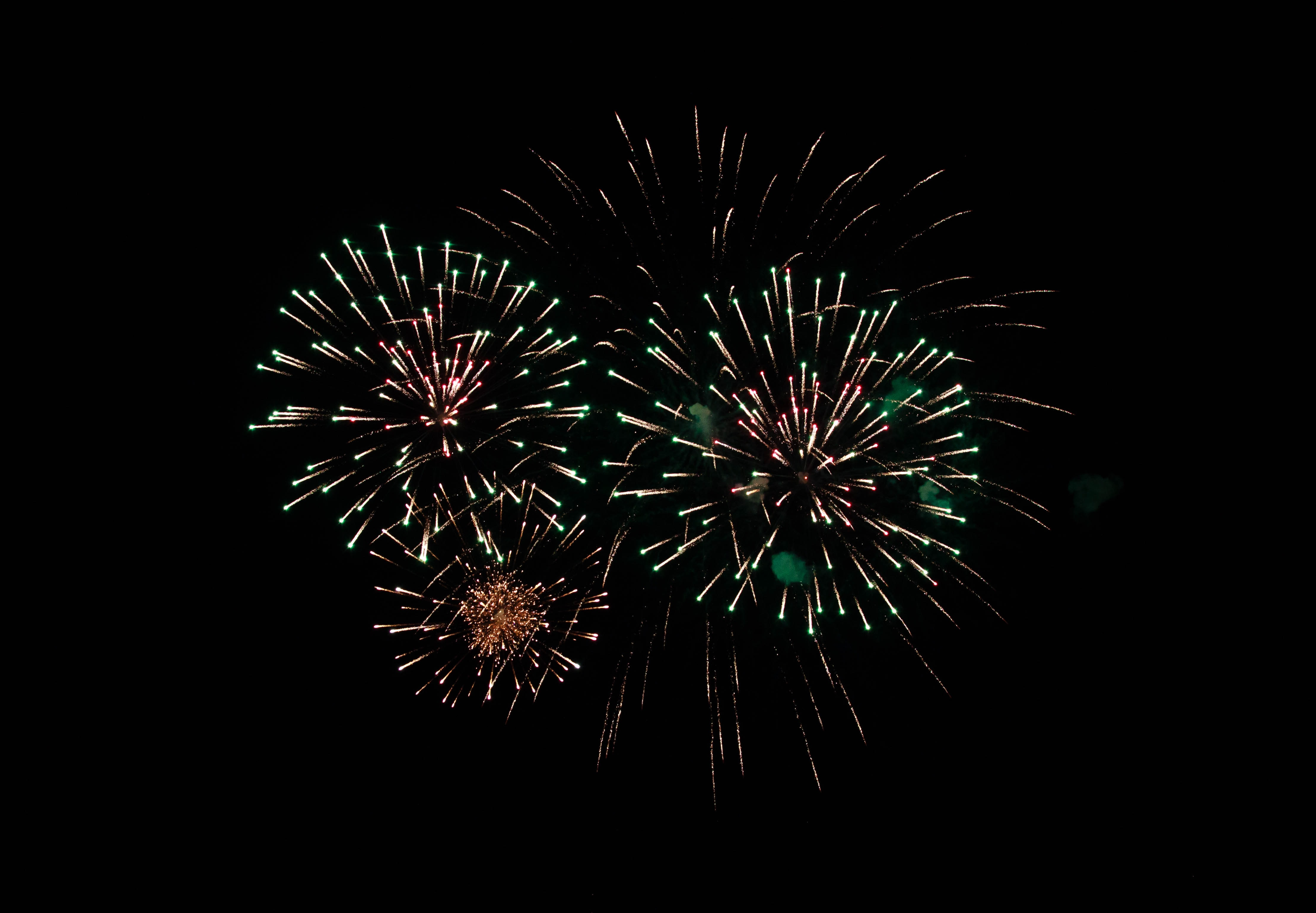 53072 download wallpaper Holidays, Night, Sparks, Holiday, Fireworks, Firework screensavers and pictures for free