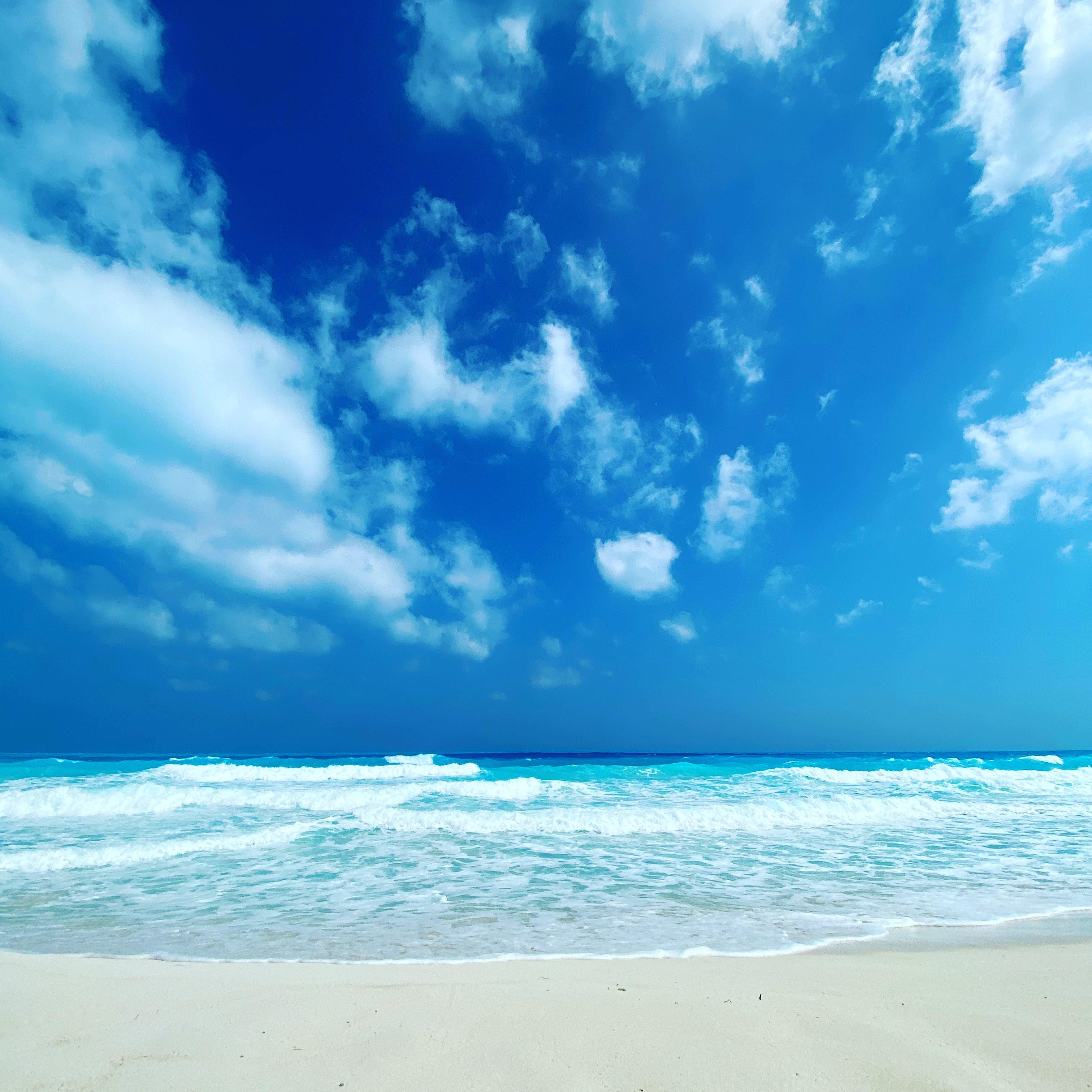 58556 télécharger le fond d'écran Nature, Sky, Mer, Nuages, Plage, Horizon, Côte - économiseurs d'écran et images gratuitement