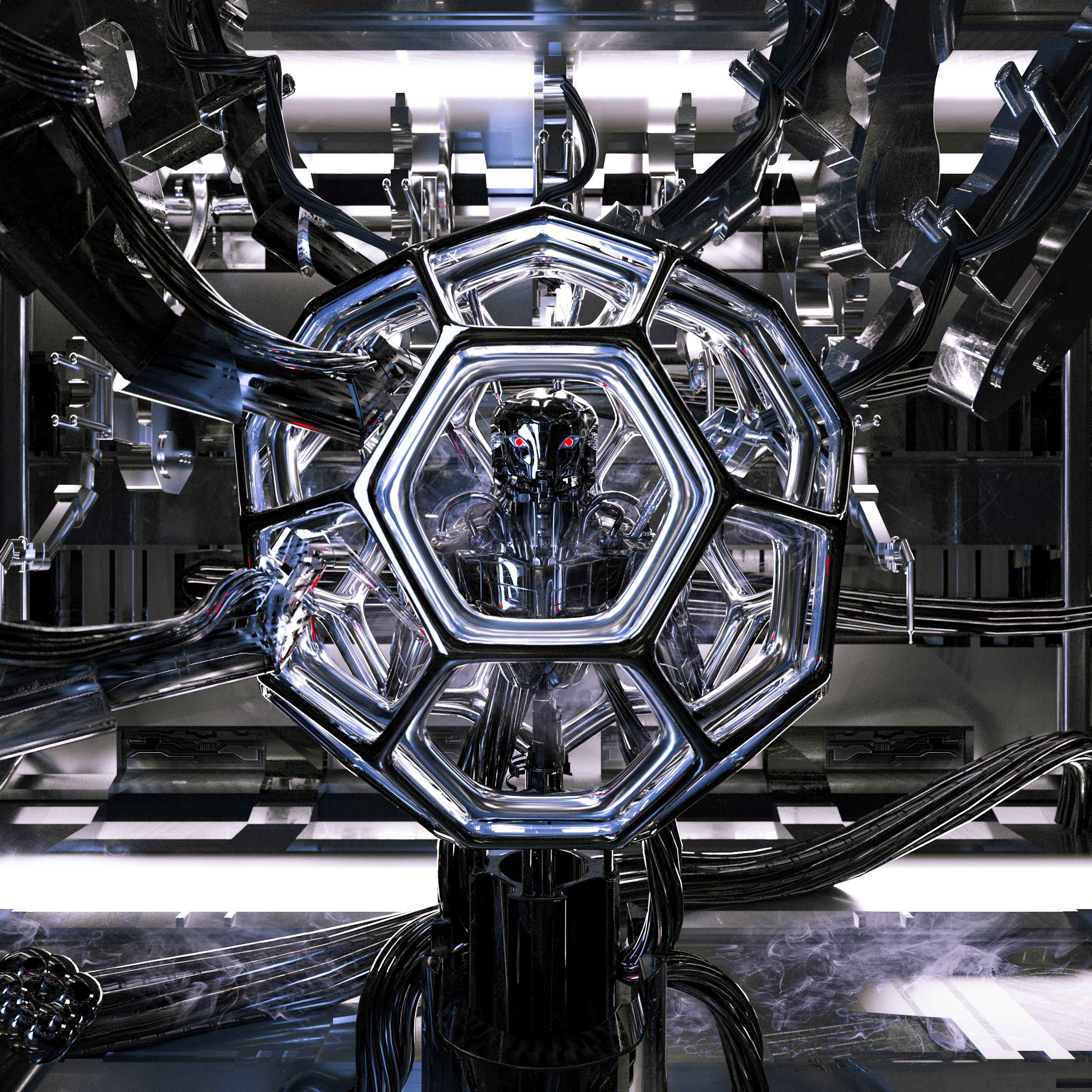 67812 Screensavers and Wallpapers Robot for phone. Download Sci-Fi, Art, Design, Construction, Ball, Robot, Wires, Wire, Laboratory pictures for free