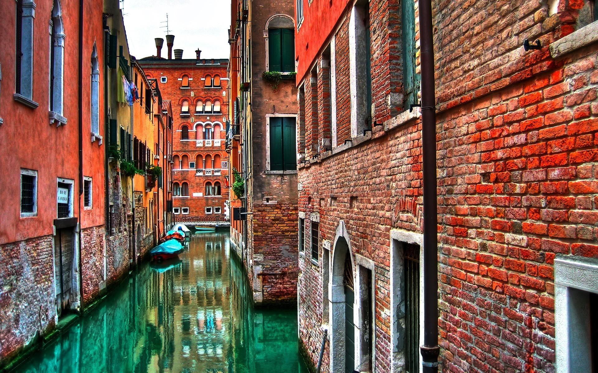 22813 скачать обои Пейзаж, Города, Вода, Улицы, Лодки, Венеция - заставки и картинки бесплатно