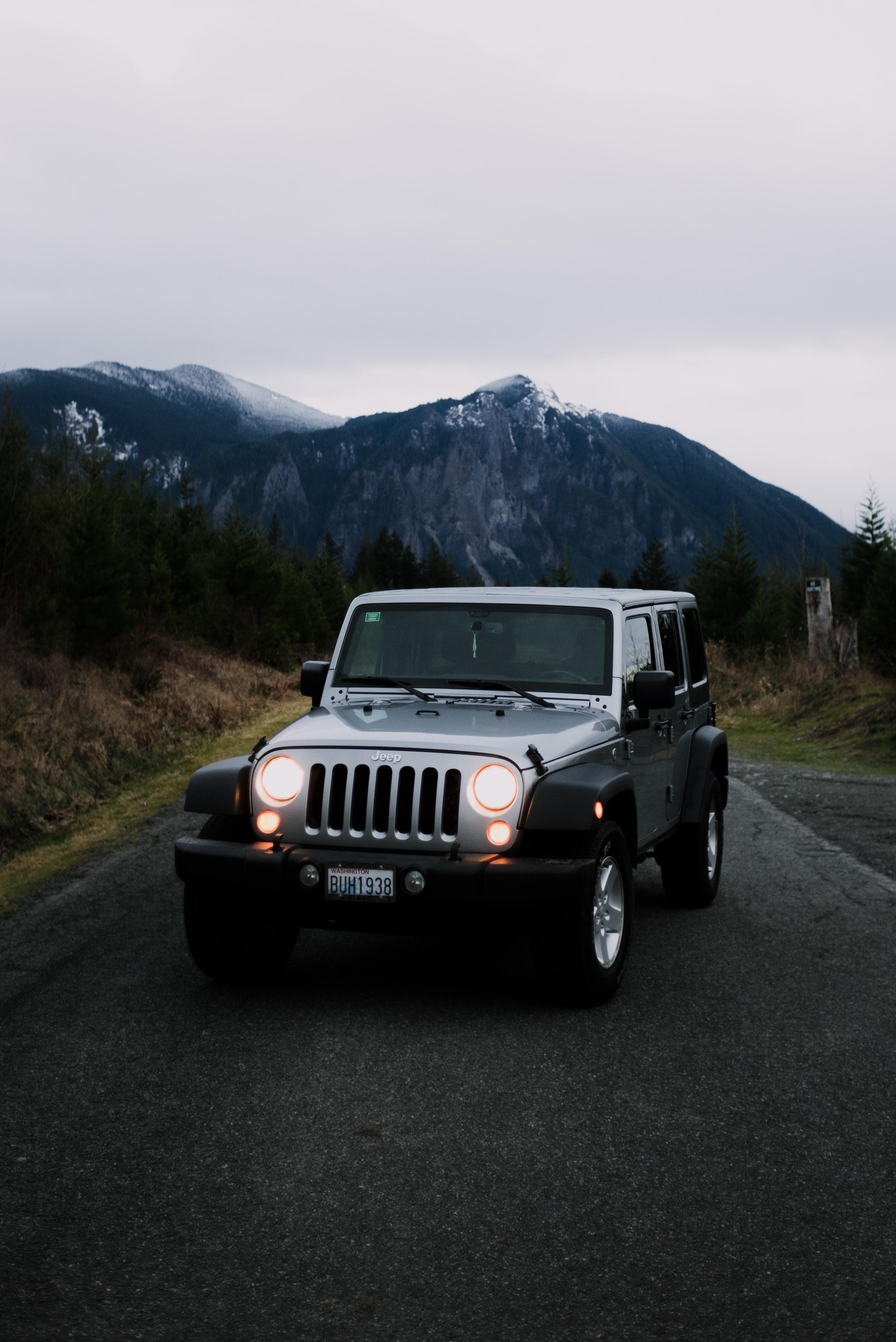 84963 скачать обои Внедорожник, Jeep, Тачки (Cars), Автомобиль, Серый, Jeep Wrangler - заставки и картинки бесплатно