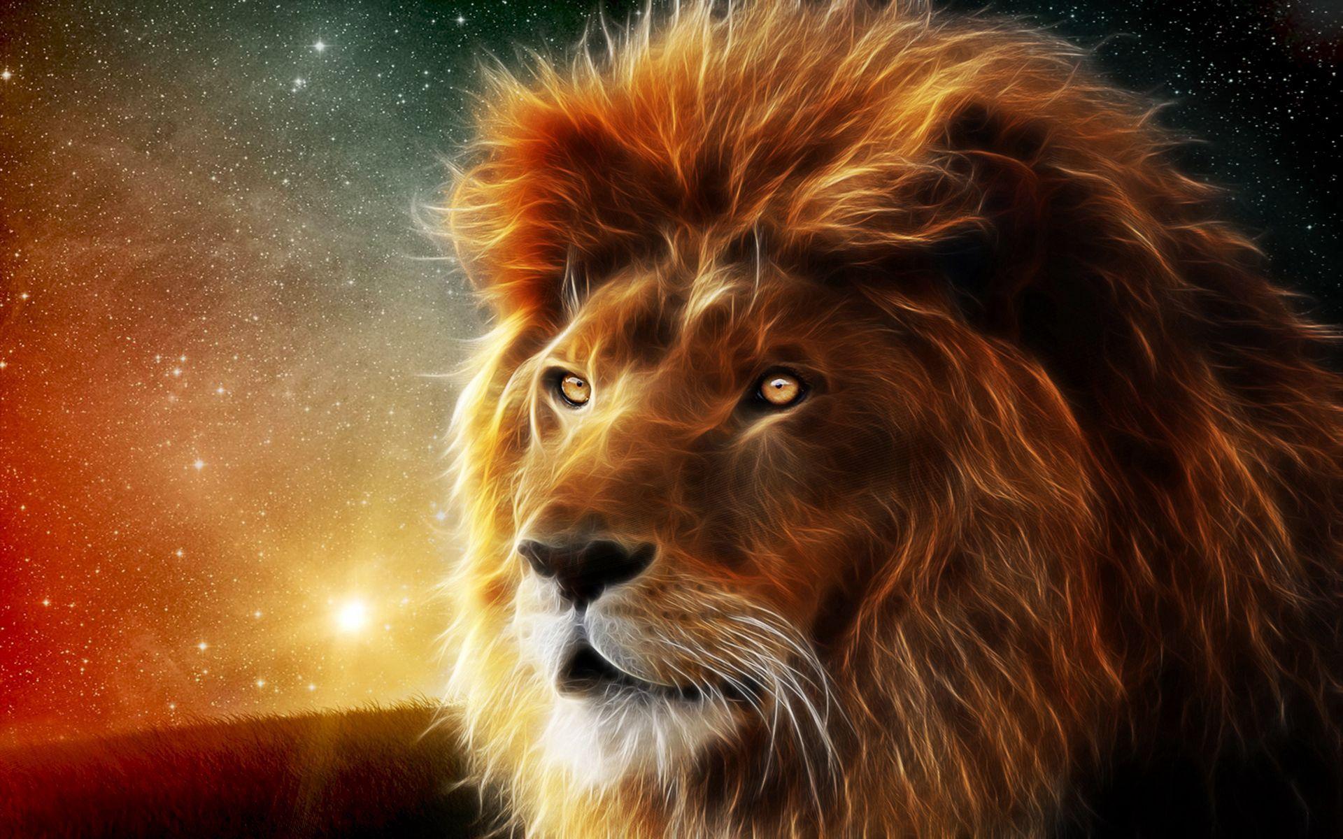 114839 Hintergrundbild herunterladen Abstrakt, Schnauze, Ein Löwe, Löwe, Mähne, König Der Bestien - Bildschirmschoner und Bilder kostenlos
