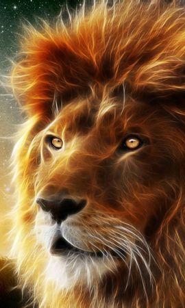 114839 télécharger le fond d'écran Abstrait, Un Lion, Lion, Museau, Muselière, Crinière, Roi Des Bêtes - économiseurs d'écran et images gratuitement