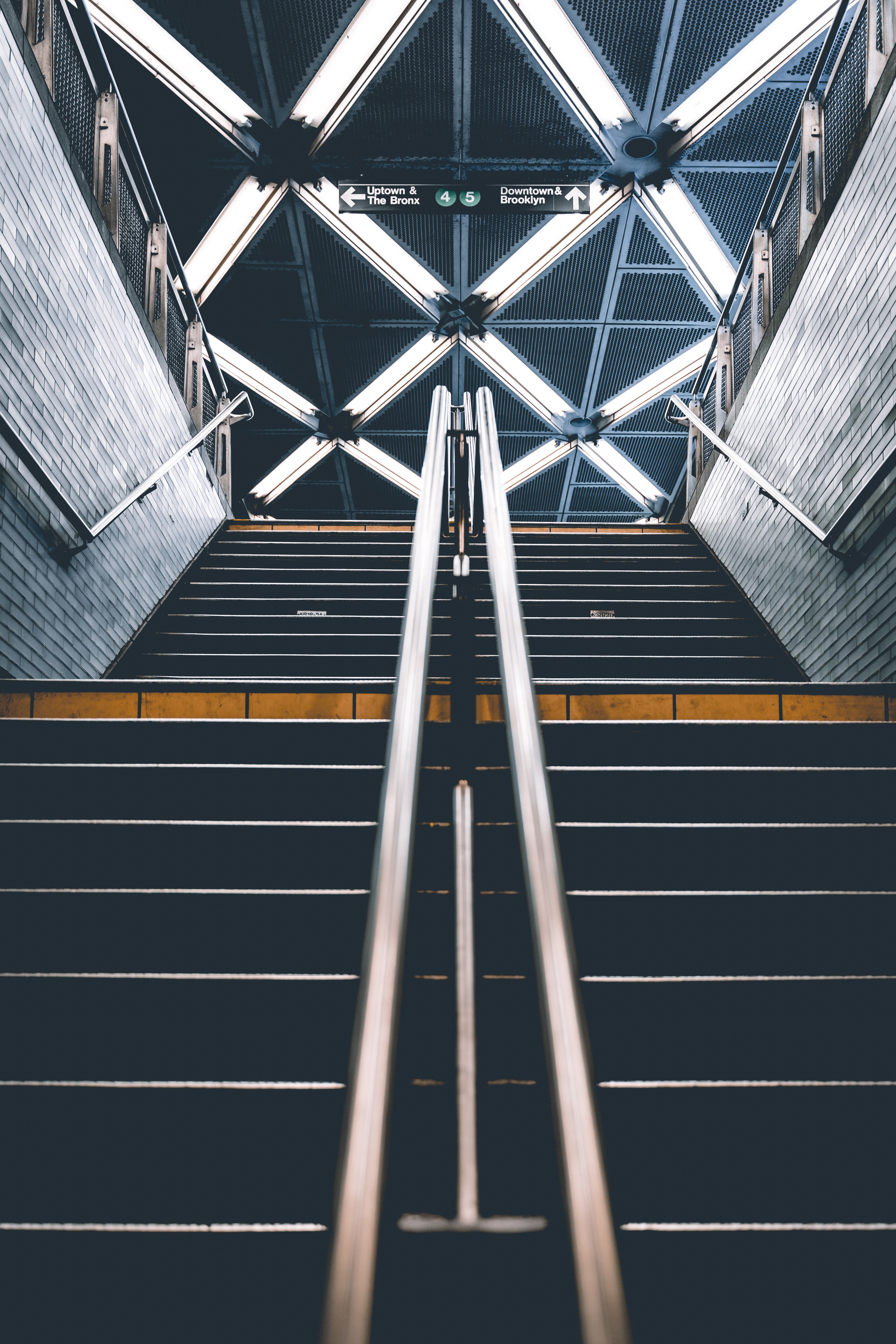 155433 Screensavers and Wallpapers Metro for phone. Download Miscellanea, Miscellaneous, Stairs, Ladder, Steps, Metro, Subway, Handrails, Underground Pass pictures for free