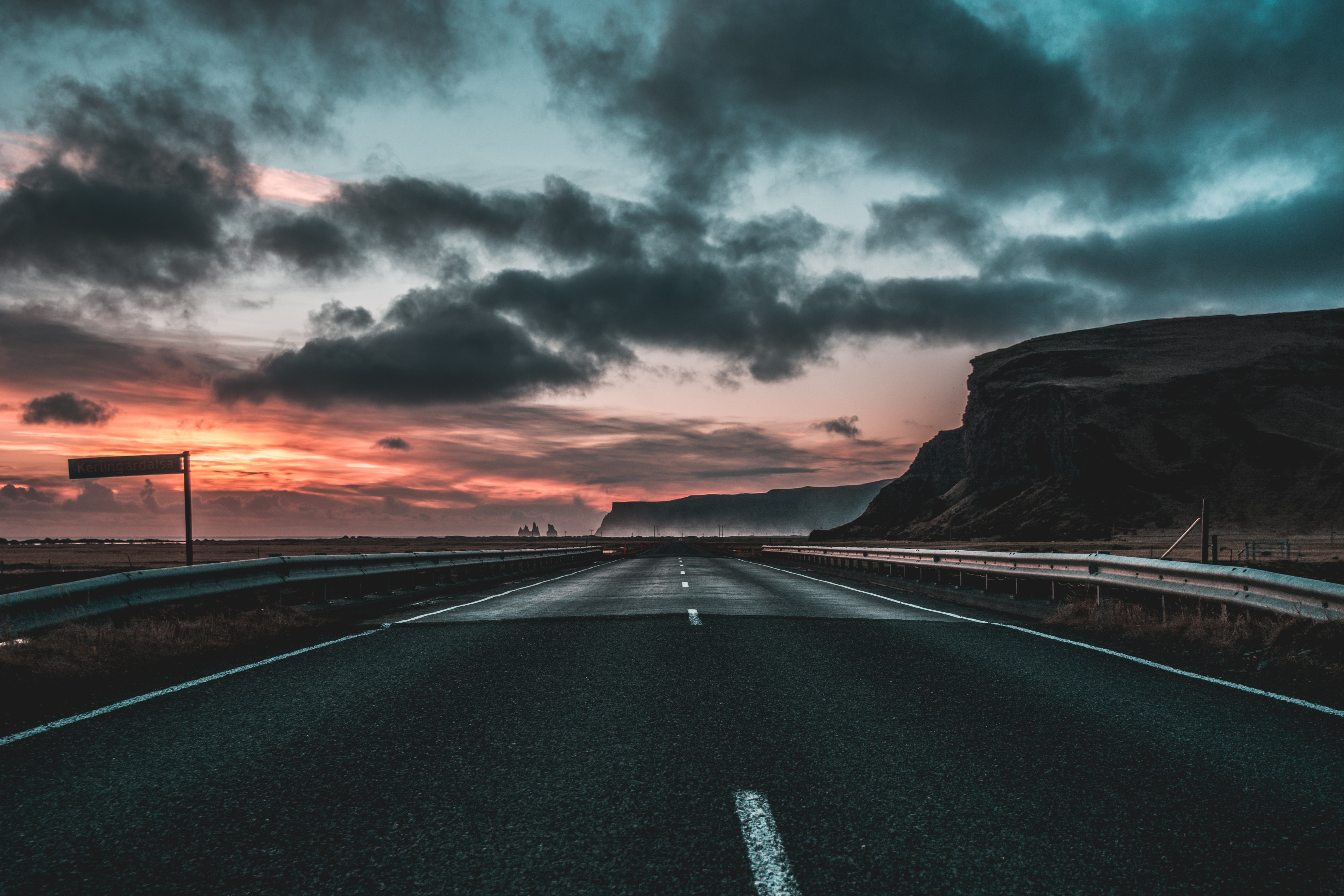 110503 Screensavers and Wallpapers Road for phone. Download Nature, Clouds, Dawn, Road, Markup pictures for free