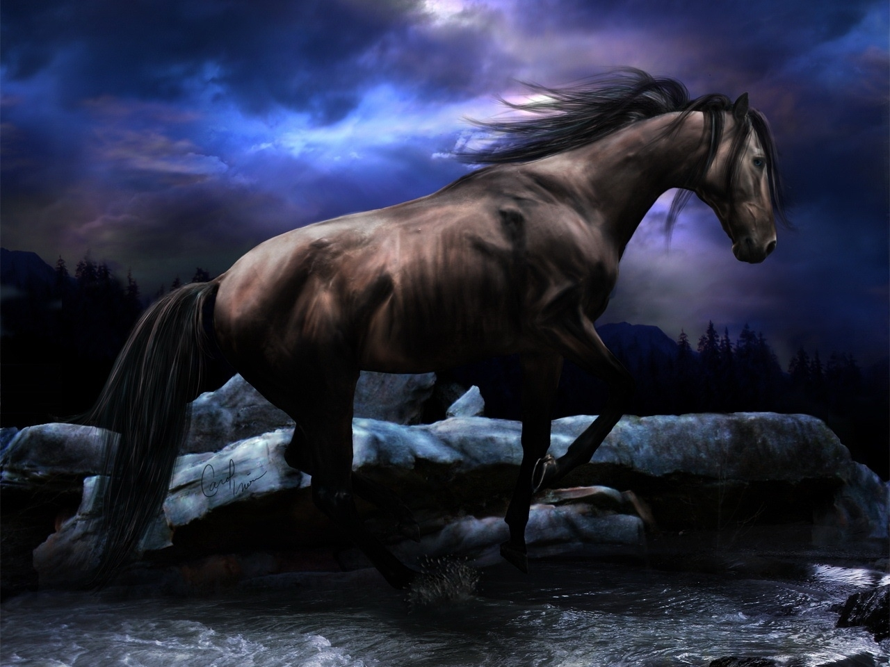 42480 download wallpaper Animals, Horses screensavers and pictures for free
