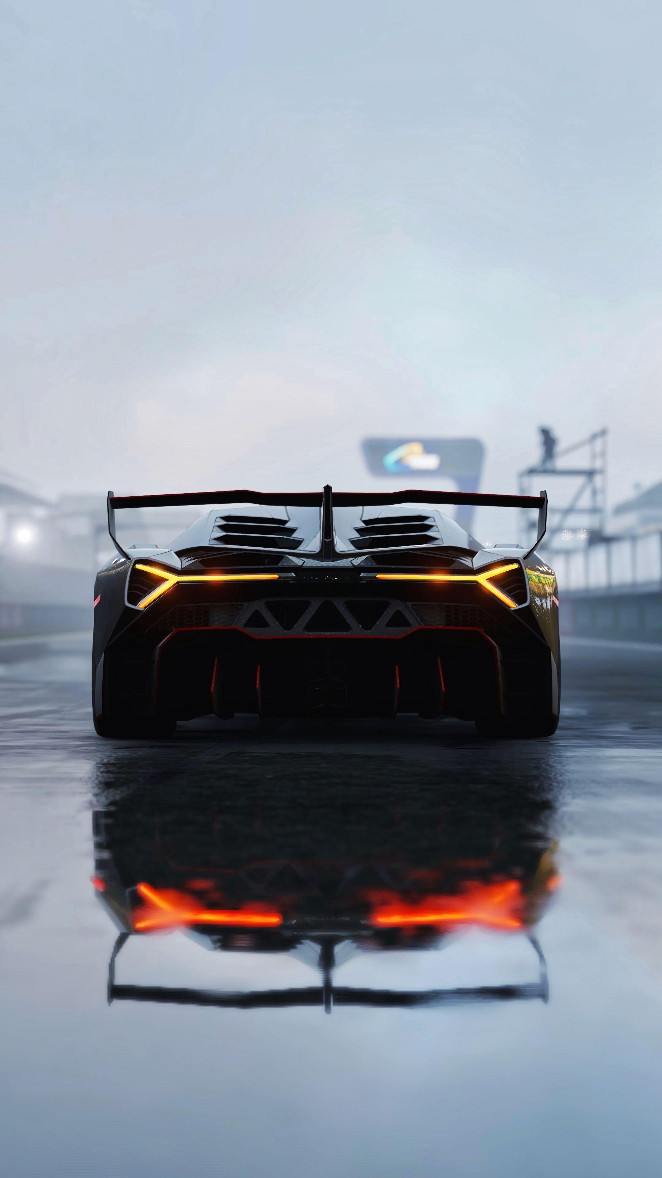 122420 Hintergrundbild herunterladen Lamborghini, Sport, Rennen, Cars, Sportwagen, Rückansicht, Lamborghini Veneno - Bildschirmschoner und Bilder kostenlos