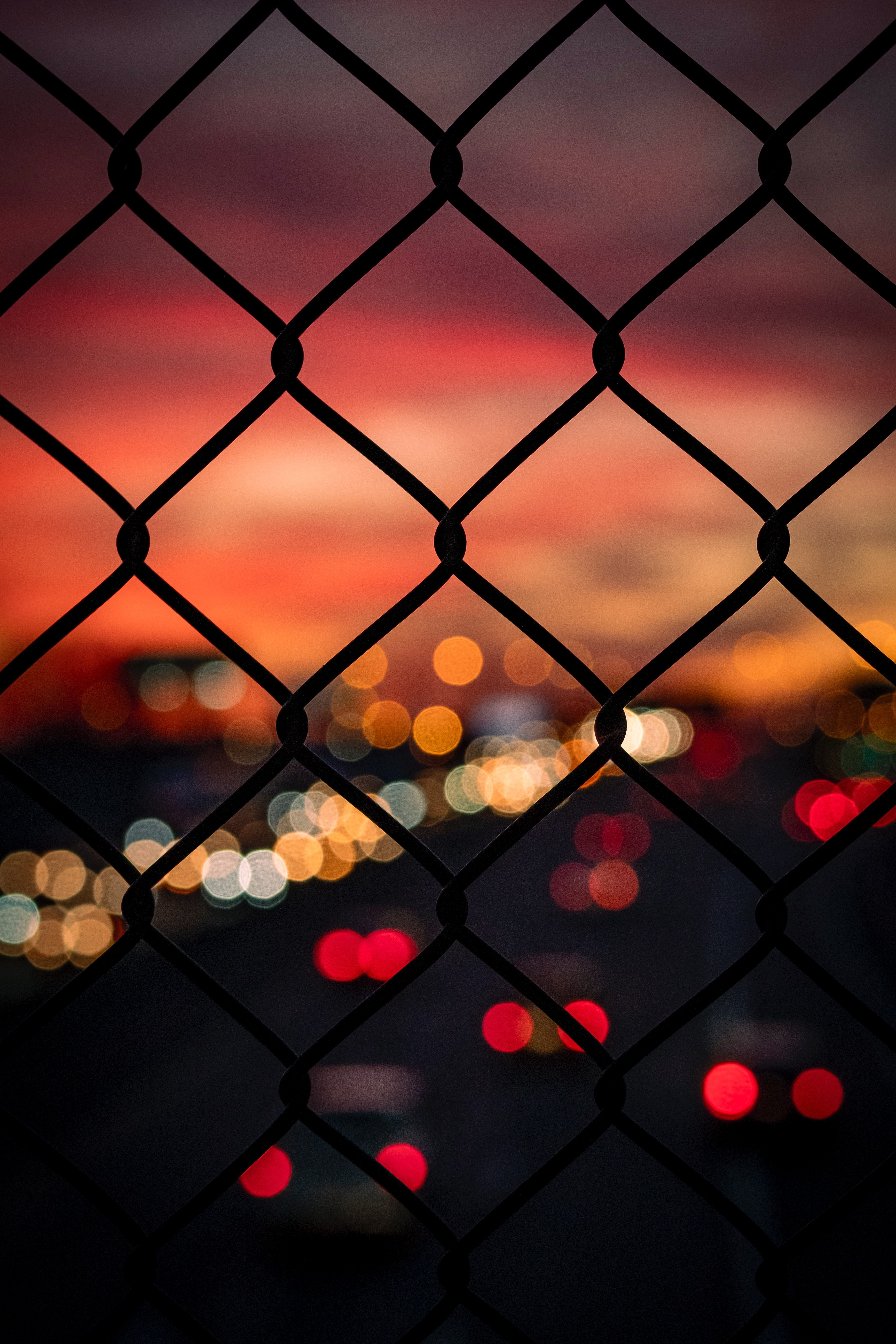 64480 download wallpaper Lights, Dark, Circles, Blur, Smooth, Grid, Bokeh, Boquet screensavers and pictures for free