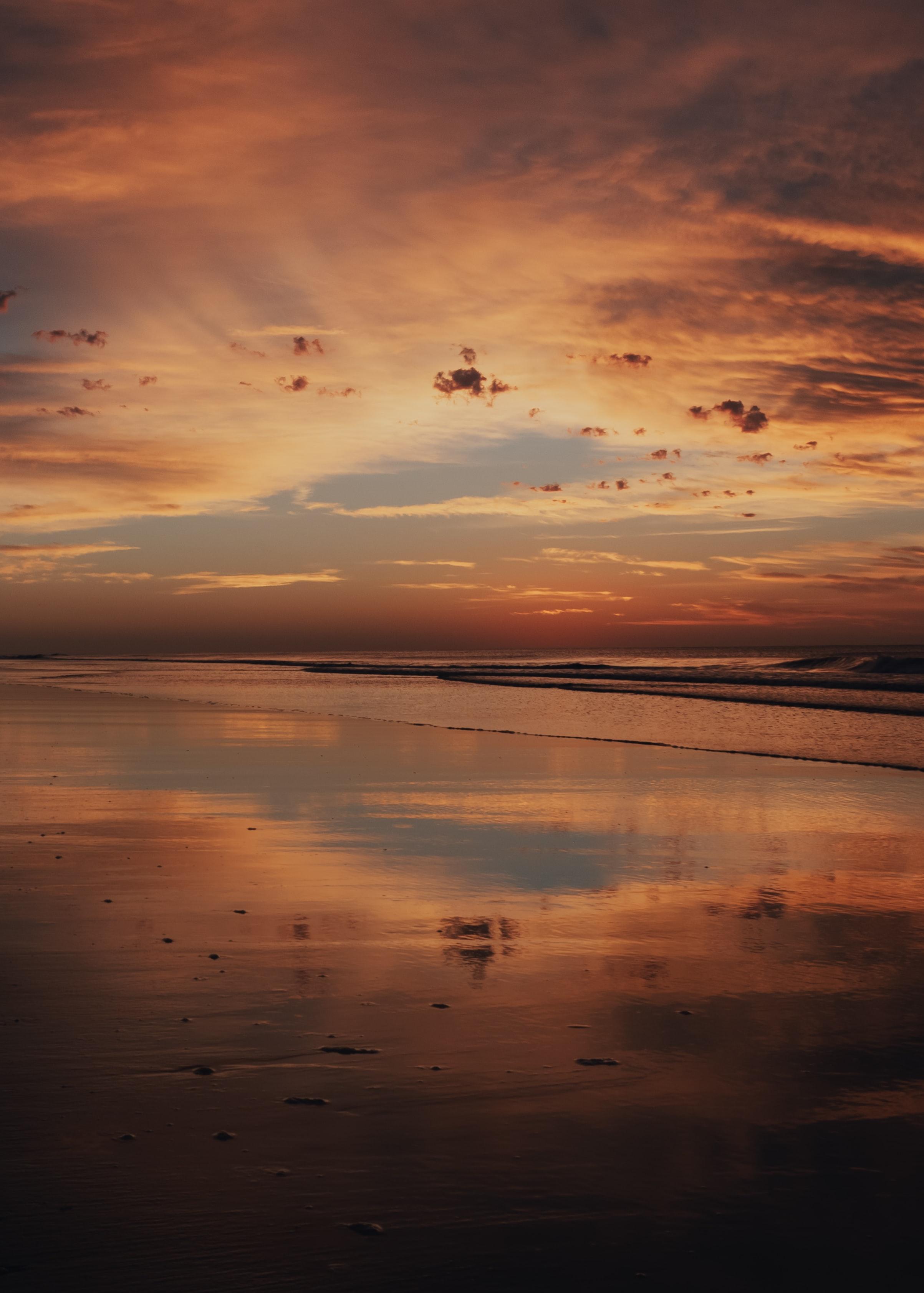52182 скачать обои Природа, Закат, Берег, Вода, Отражение, Пейзаж - заставки и картинки бесплатно
