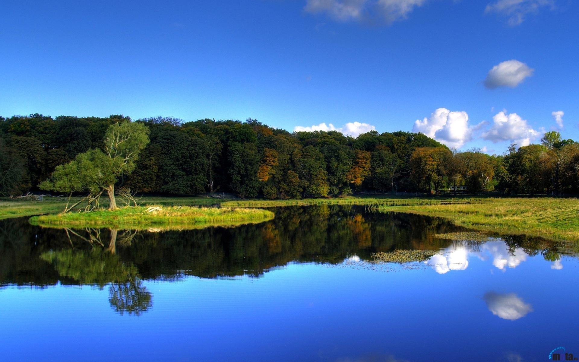 23546 скачать обои Пейзаж, Река, Деревья - заставки и картинки бесплатно