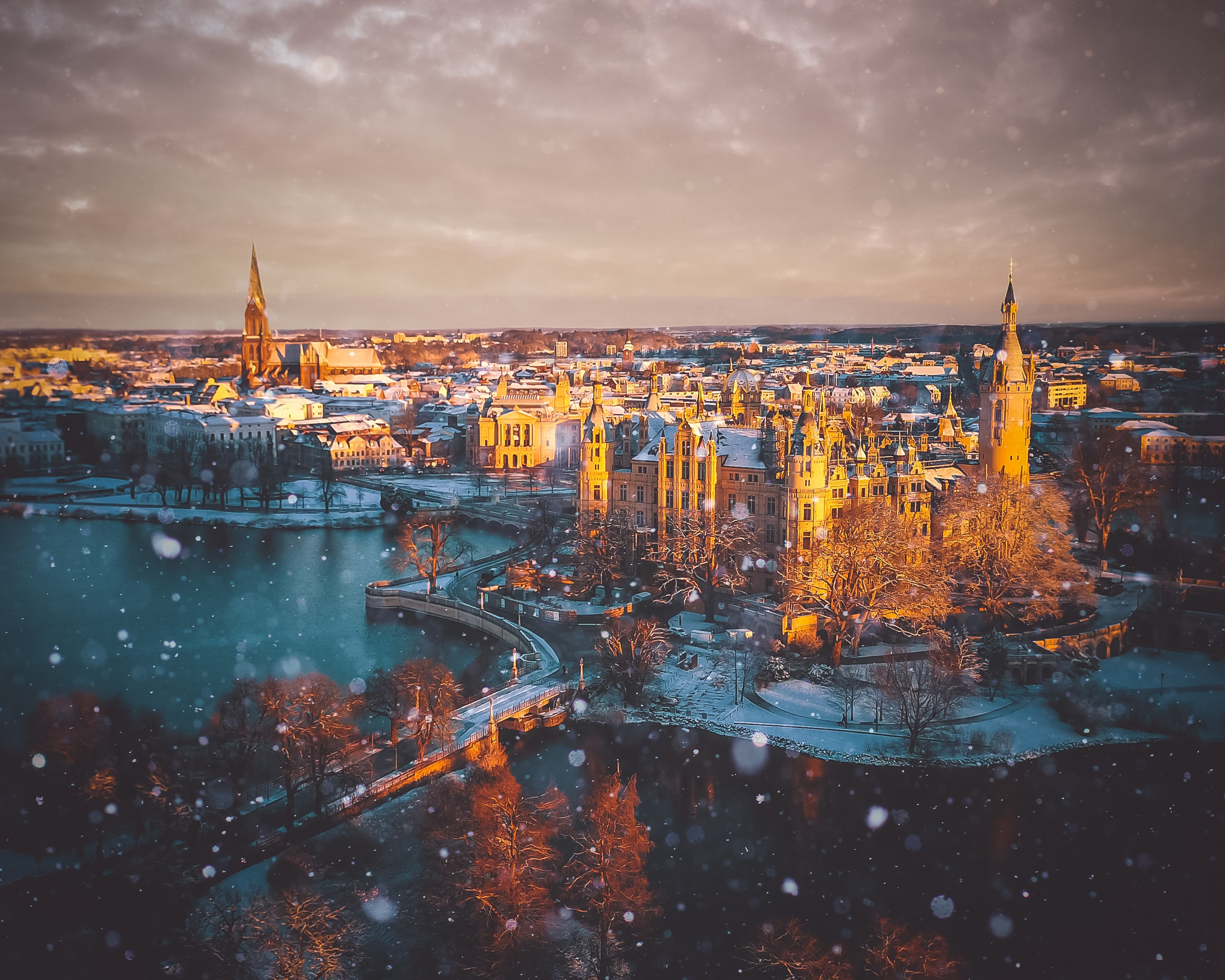 149884 Screensavers and Wallpapers City for phone. Download City, Cities, Rivers, Snow, Palace pictures for free