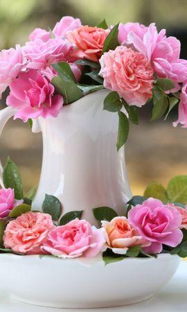 25414 скачать обои Растения, Цветы, Розы, Букеты - заставки и картинки бесплатно