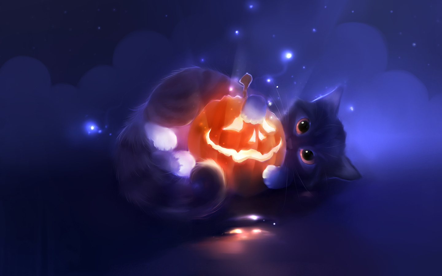 13280 download wallpaper Halloween, Animals, Holidays, Cats, Pictures screensavers and pictures for free