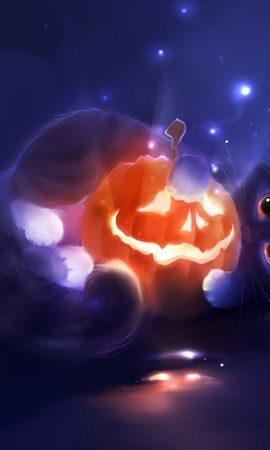 13280 download wallpaper Holidays, Animals, Cats, Halloween, Pictures screensavers and pictures for free