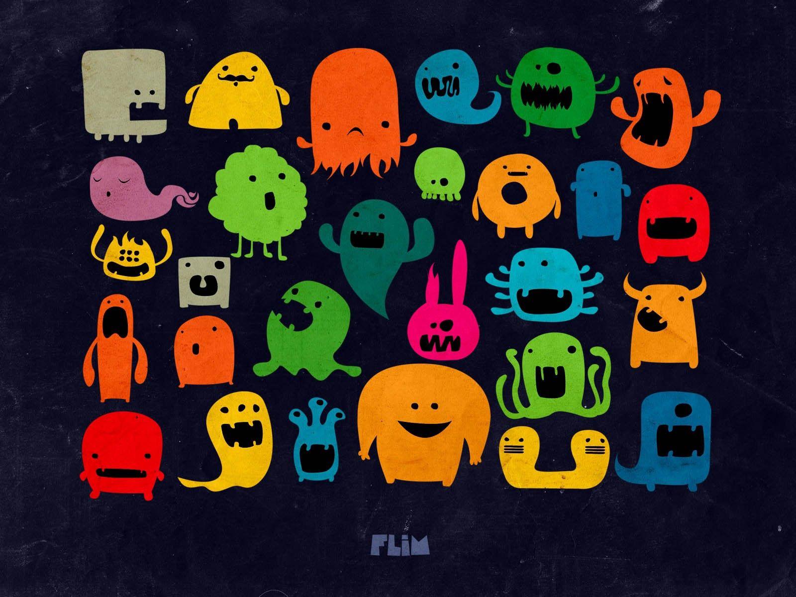 118363 Protetores de tela e papéis de parede Monstros em seu telefone. Baixe Desenho, Monstros, Vetor, Multicolorido, Motley, Foto fotos gratuitamente