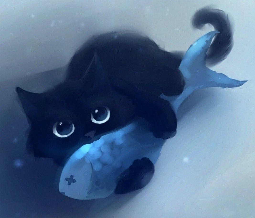 22068 скачать обои Животные, Кошки (Коты, Котики), Рисунки - заставки и картинки бесплатно